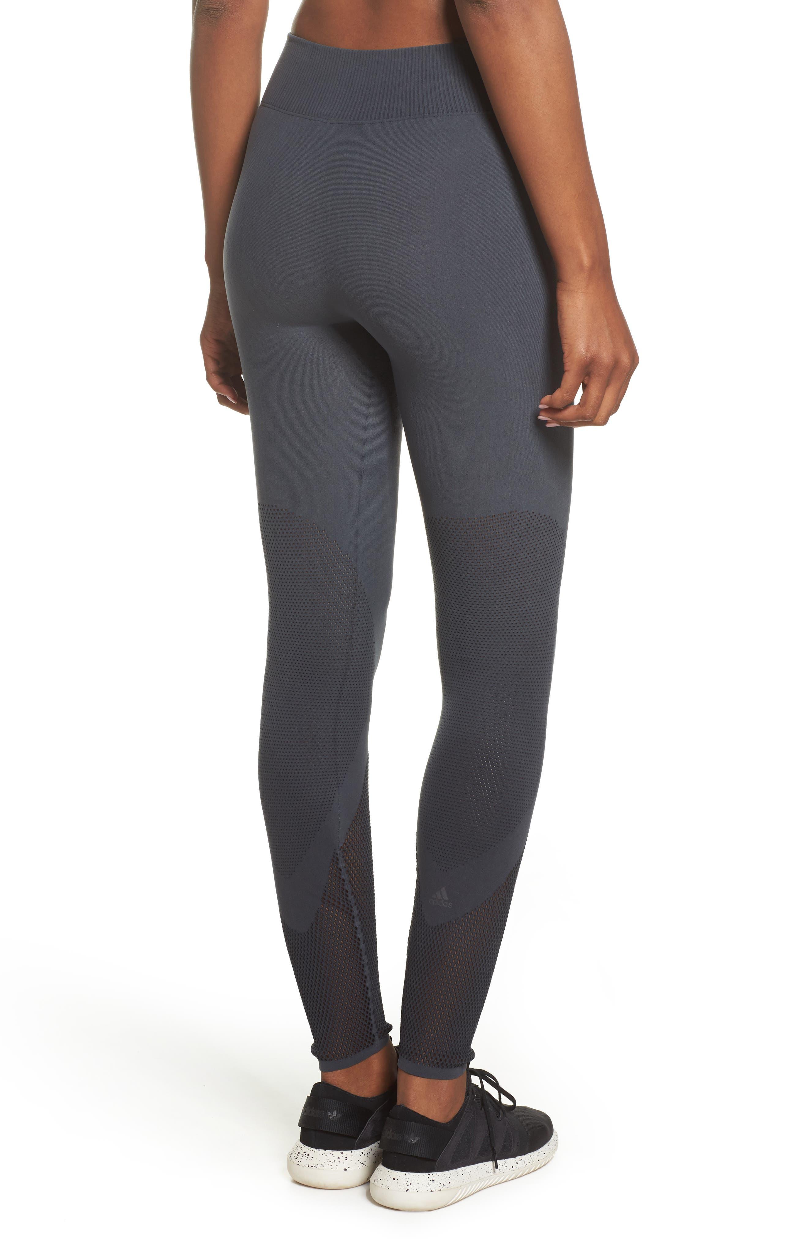 Warp Climacool<sup>®</sup> Knit Tights,                             Alternate thumbnail 2, color,                             Carbon/ Black