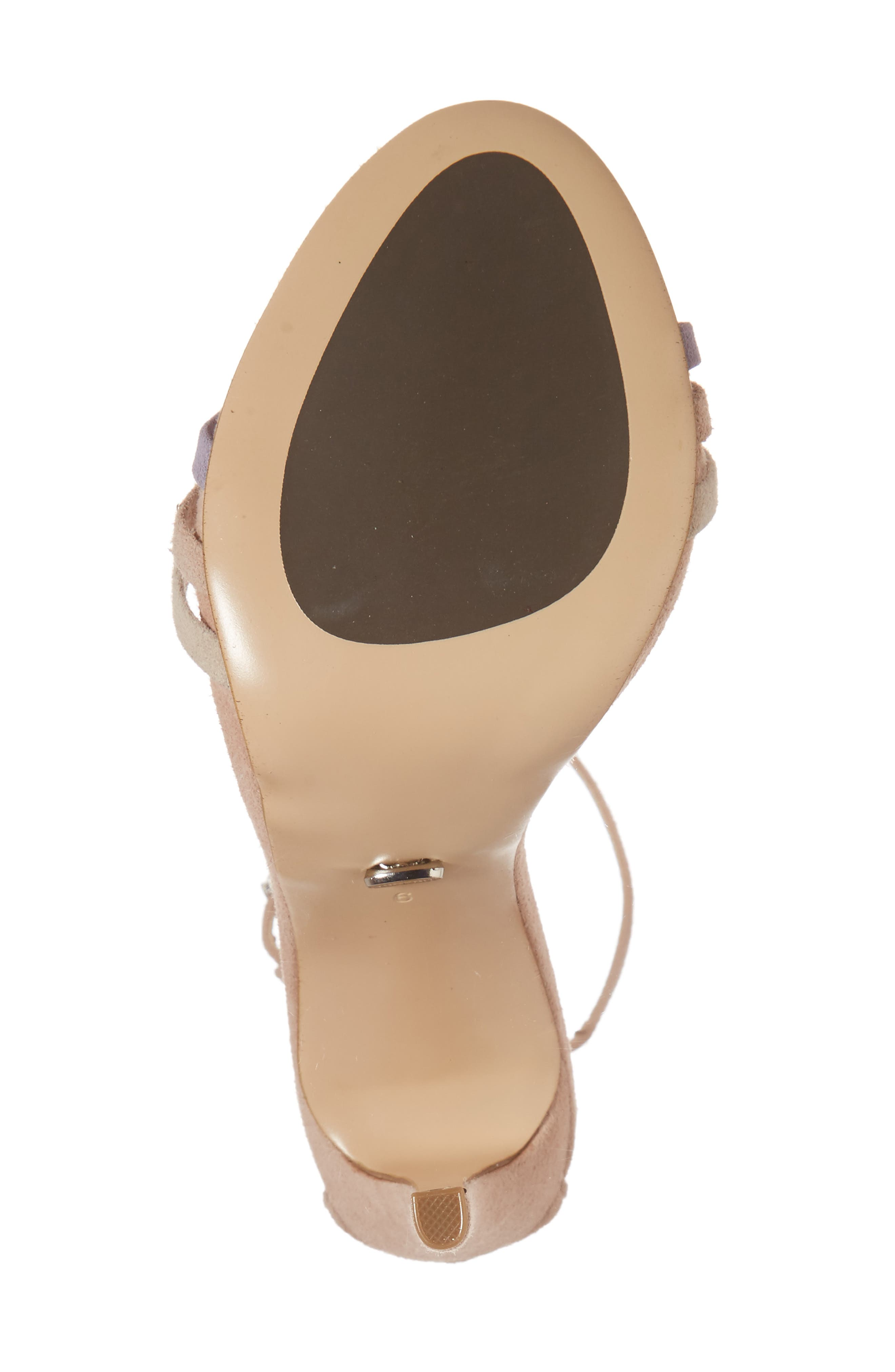 Aroma Strappy Sandal,                             Alternate thumbnail 6, color,                             Blush Suede