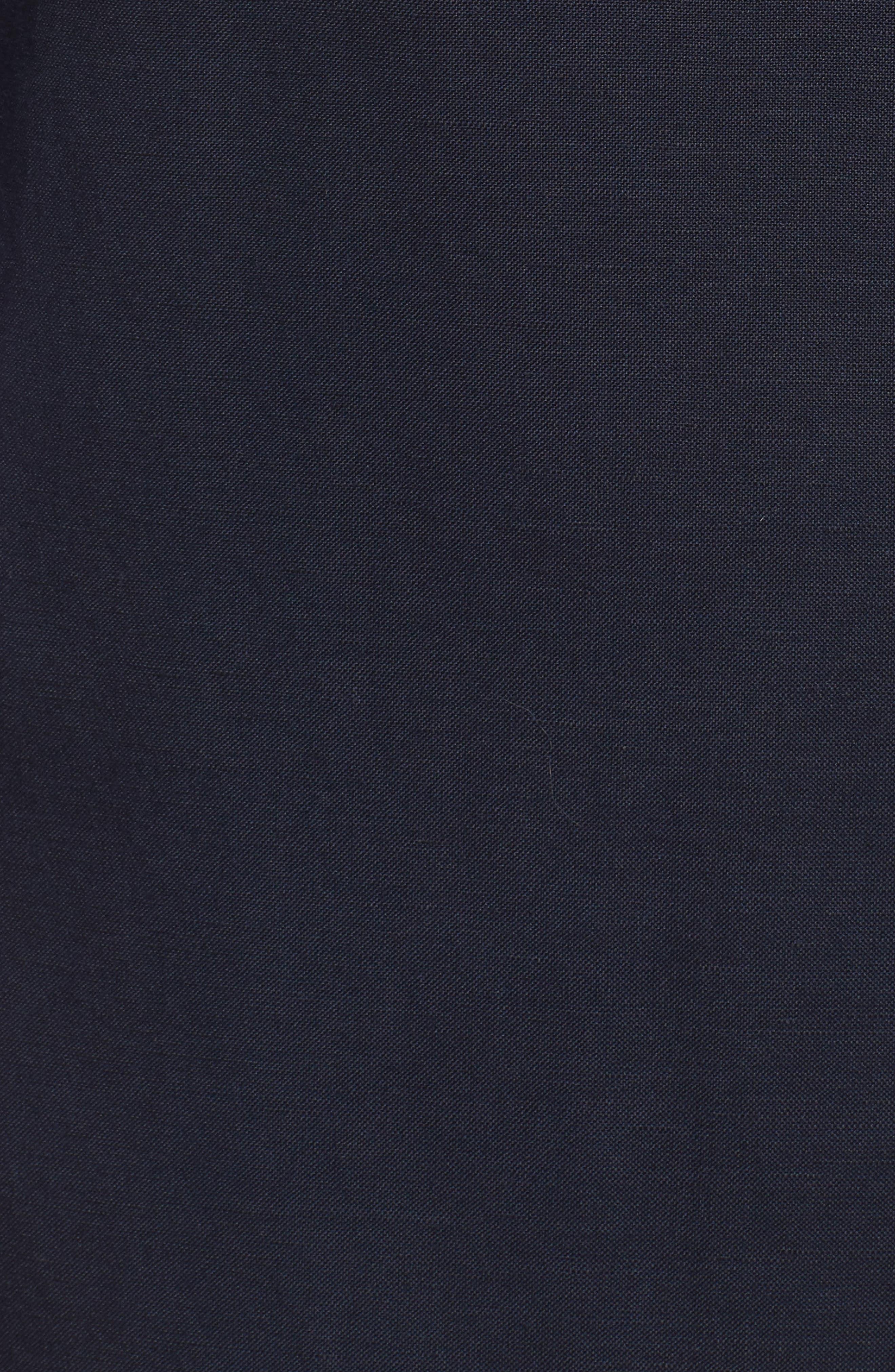 Mandarin Collar Shift Dress,                             Alternate thumbnail 5, color,                             Navy/ Pansy