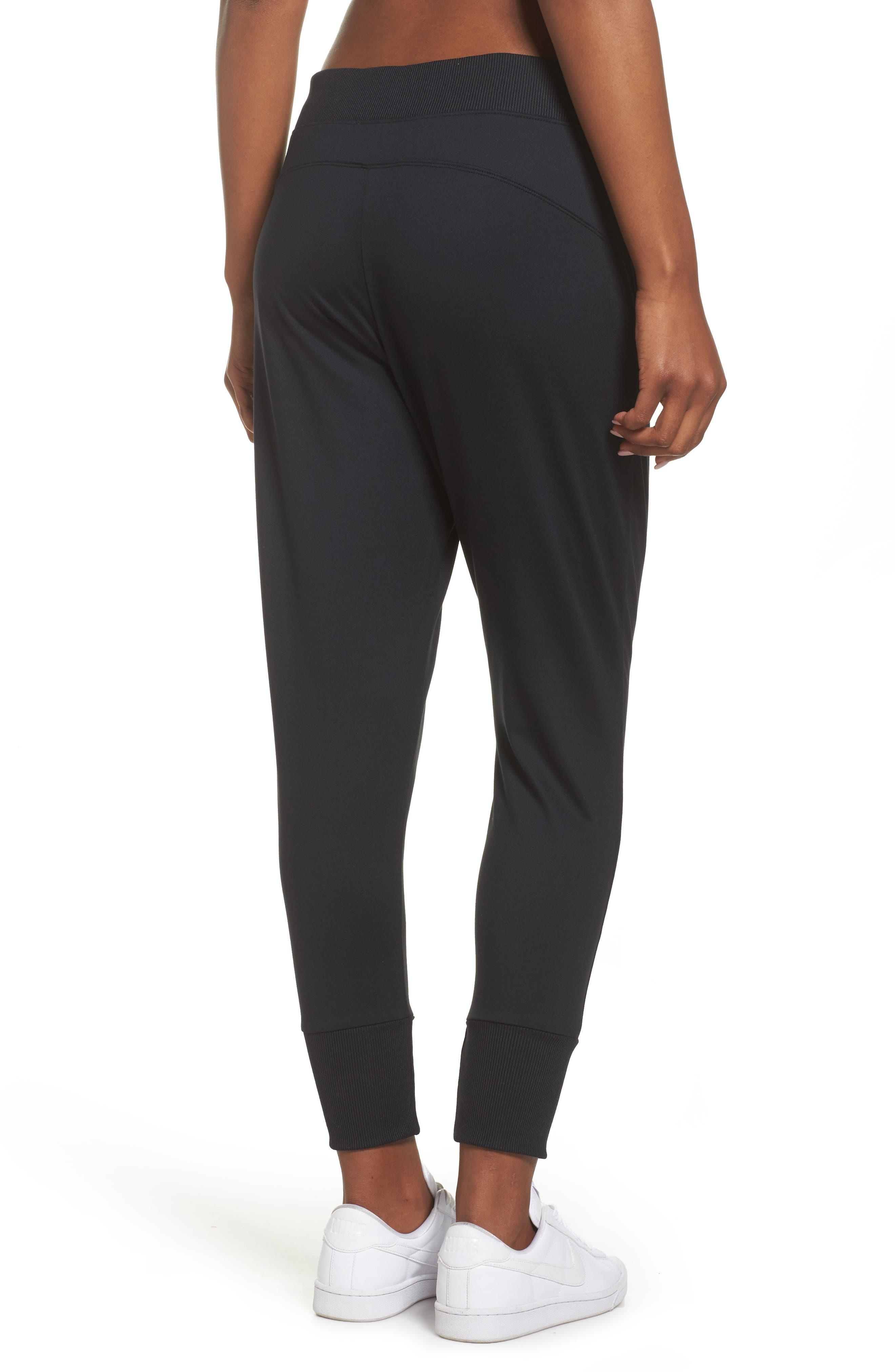 Lace & Repeat Crop Pants,                             Alternate thumbnail 2, color,                             Black