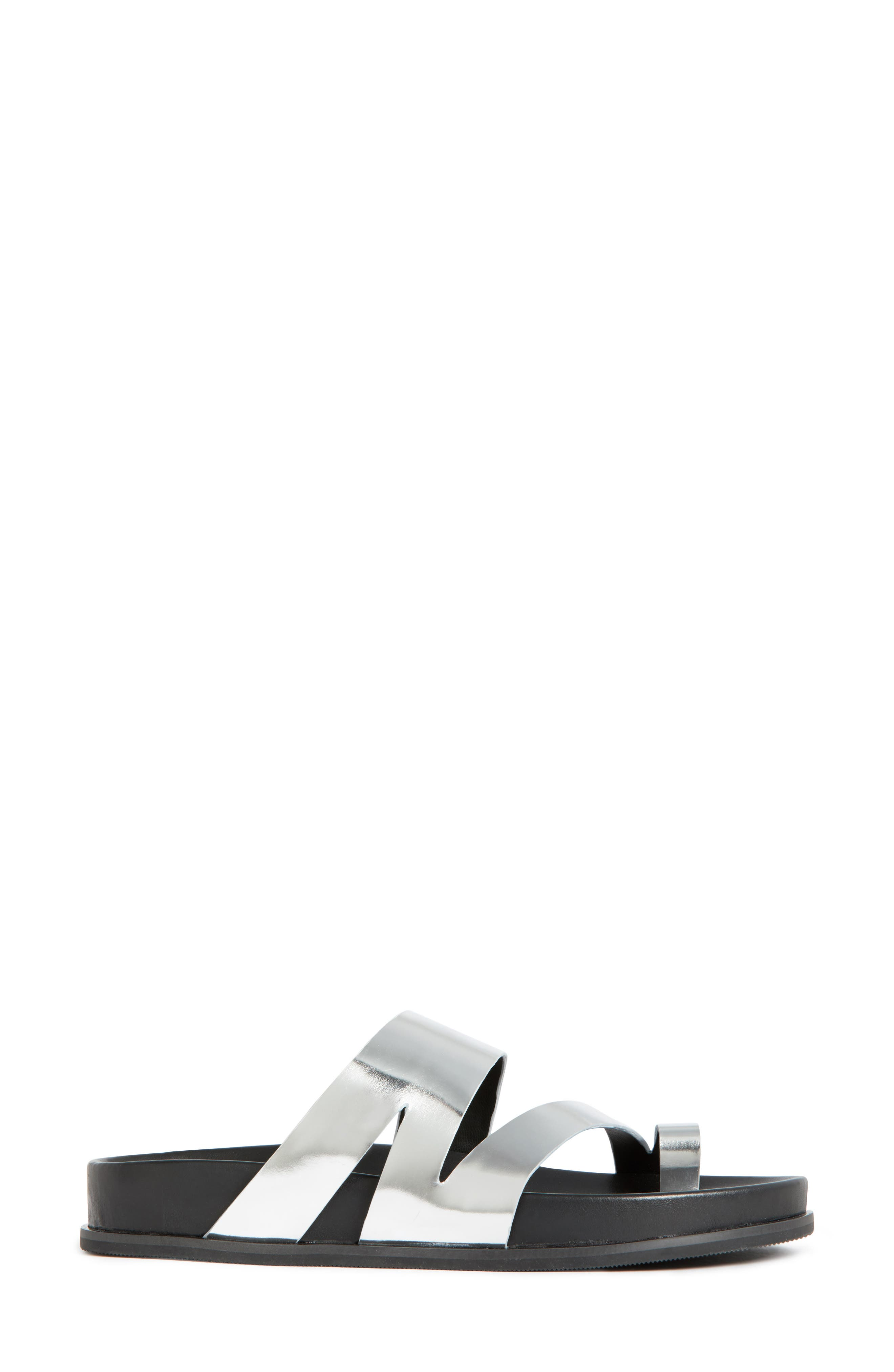 Yamini Sandal,                             Alternate thumbnail 3, color,                             Silver Leather