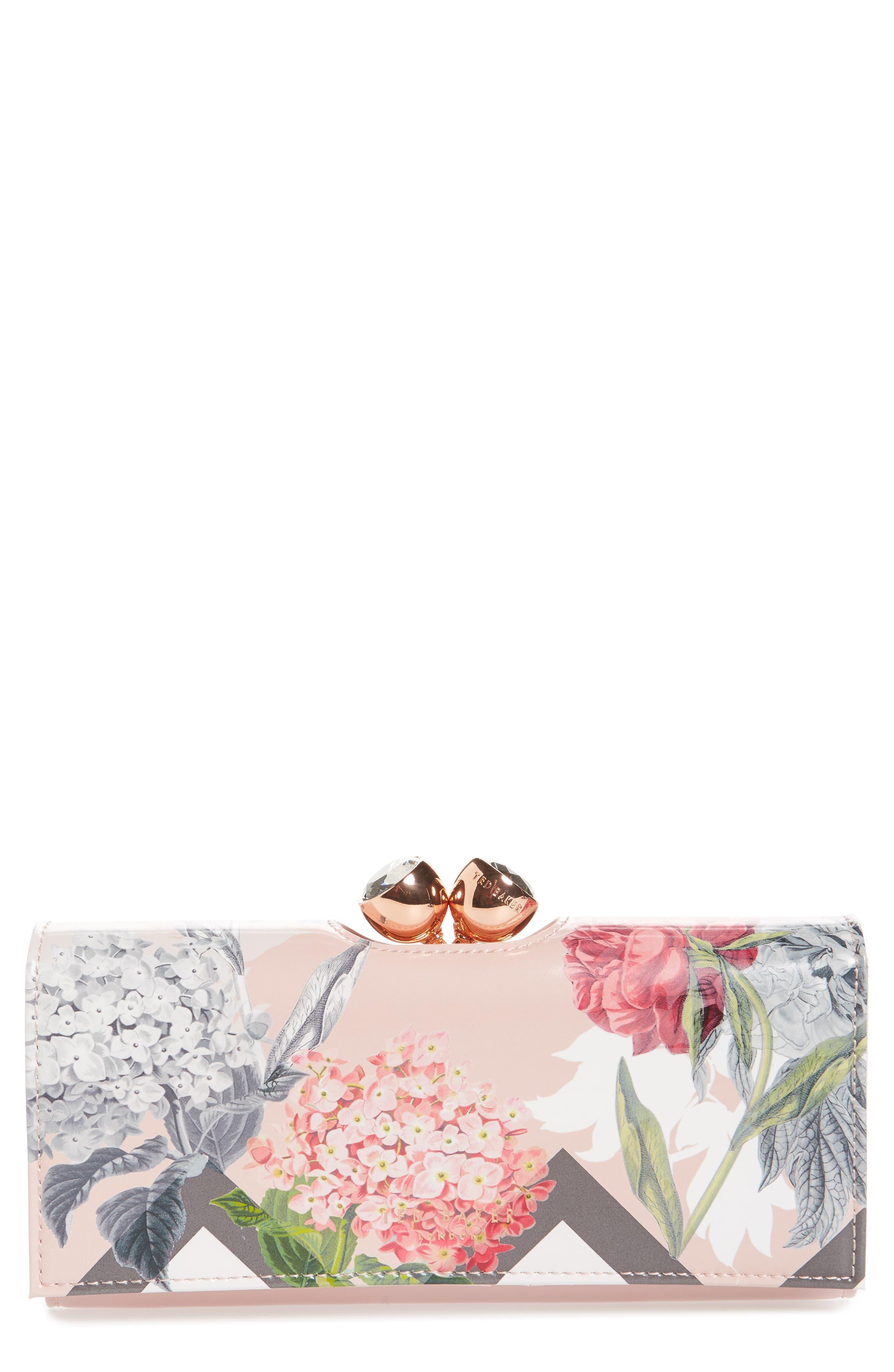 Palace Gardens Matinée Wallet,                             Main thumbnail 1, color,                             Dusky Pink