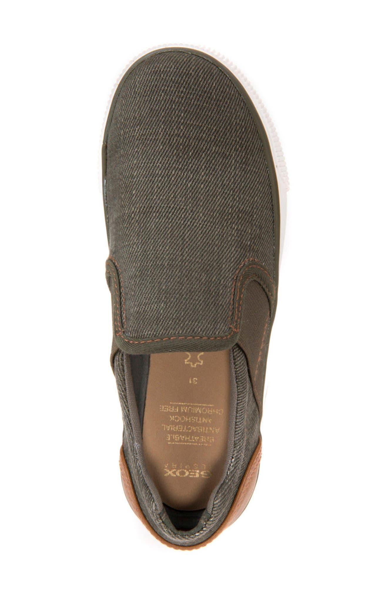 Kilwi Slip-On Sneaker,                             Alternate thumbnail 5, color,                             Military/ Light Brown
