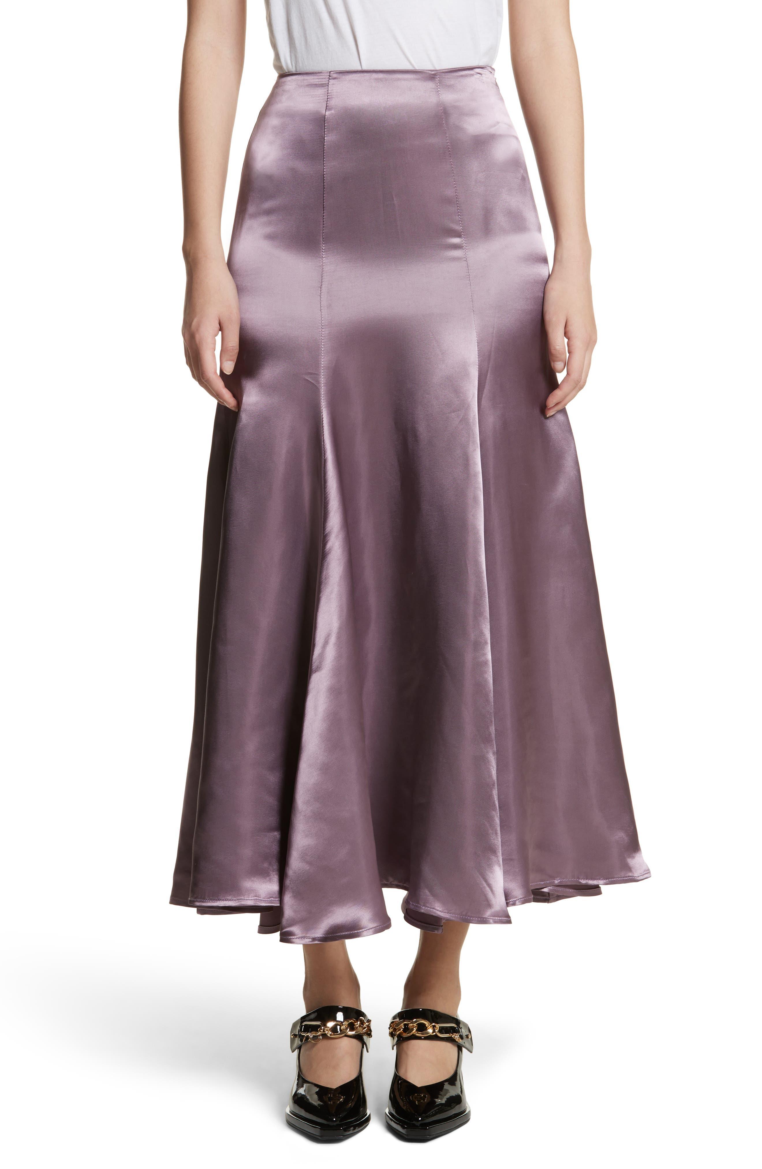 Cassini Satin Slip Skirt,                         Main,                         color, Violet