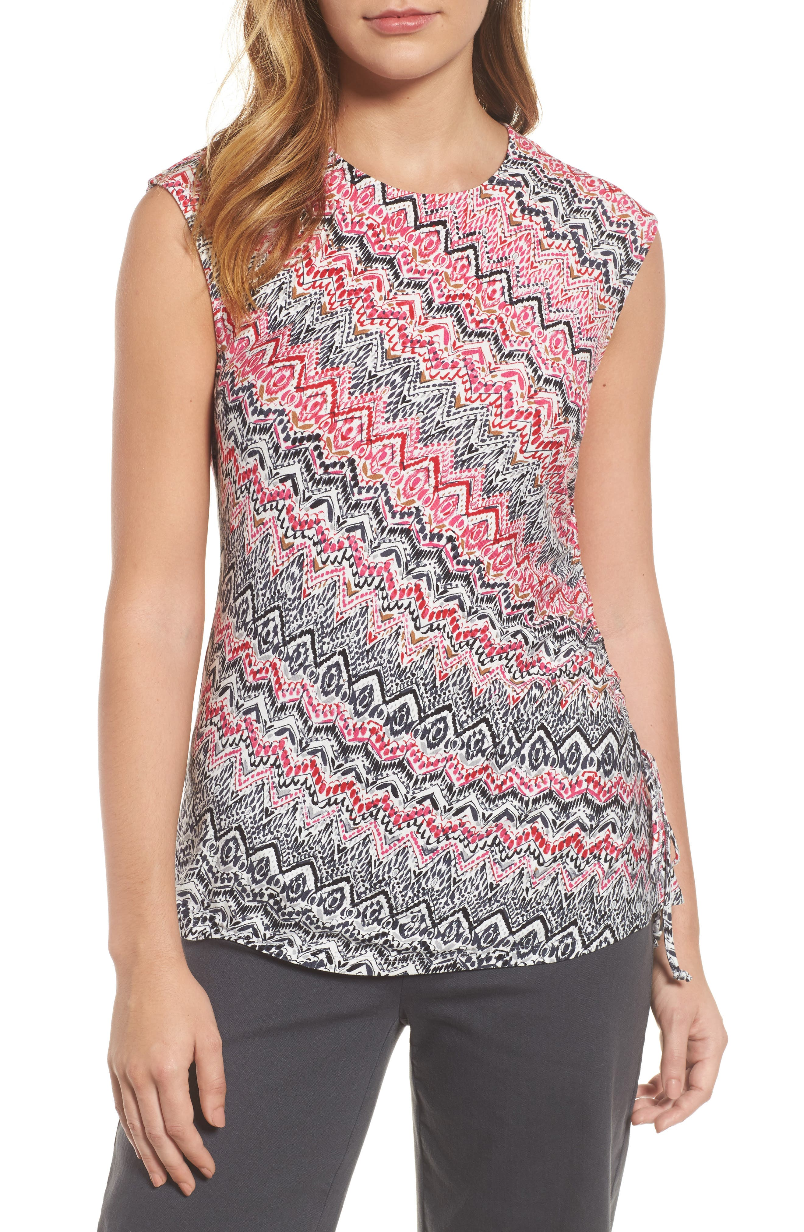 Spiced Up Ruched Tank,                         Main,                         color, Multi