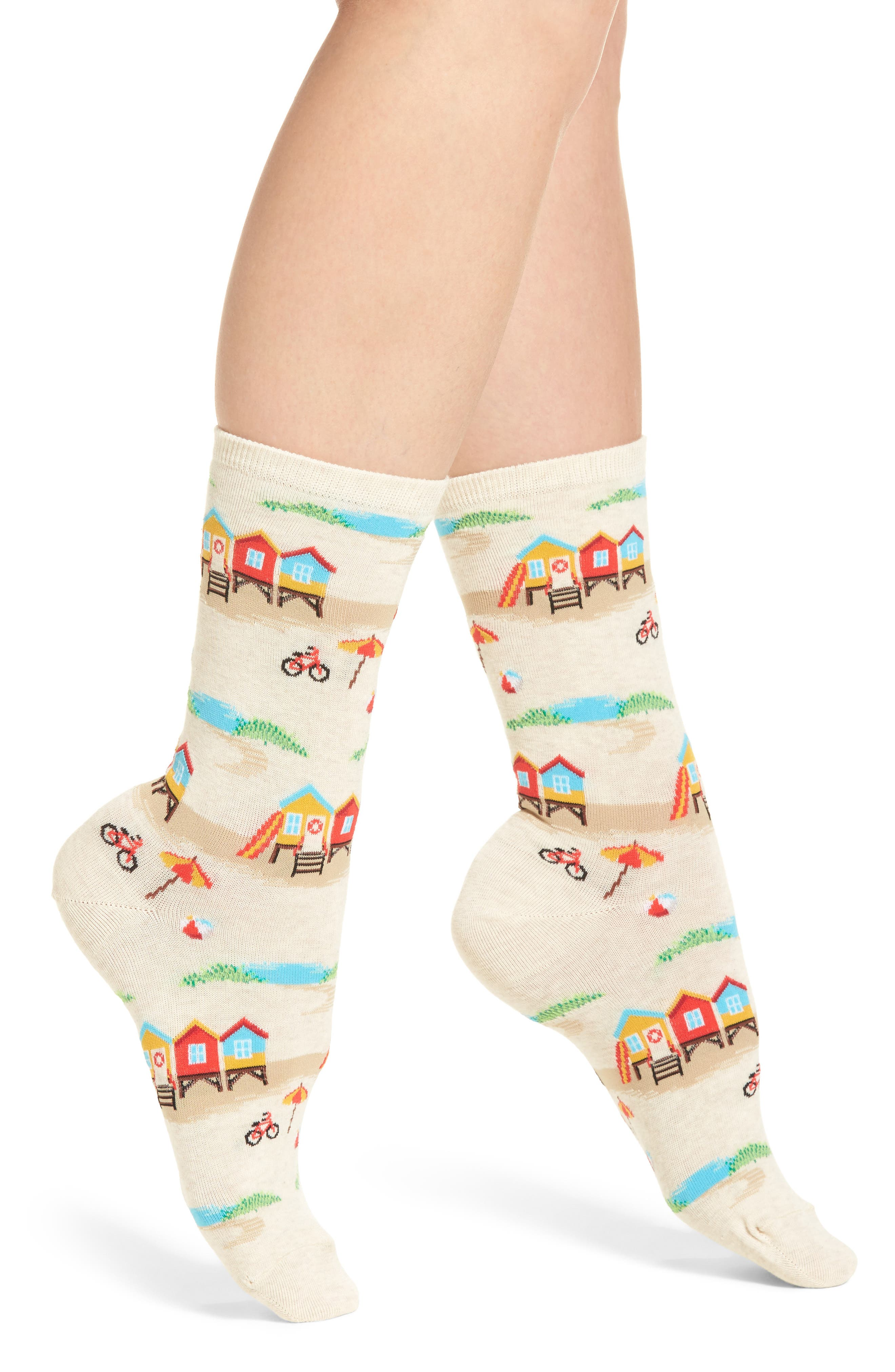 Hot Sox Cabana Scene Crew Socks (3 for $15)