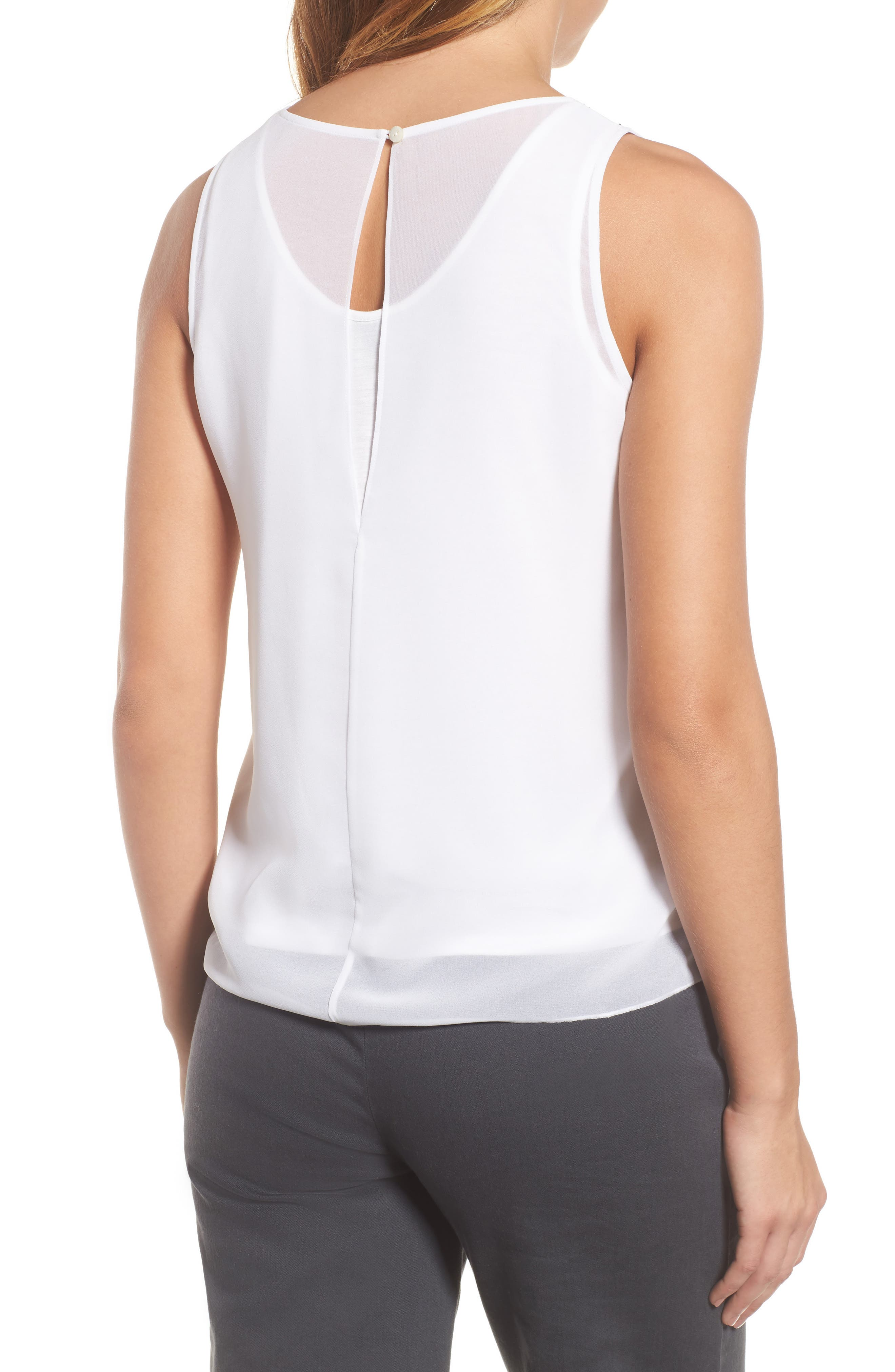 Heat Retreat Layered Tank,                             Alternate thumbnail 2, color,                             Paper White
