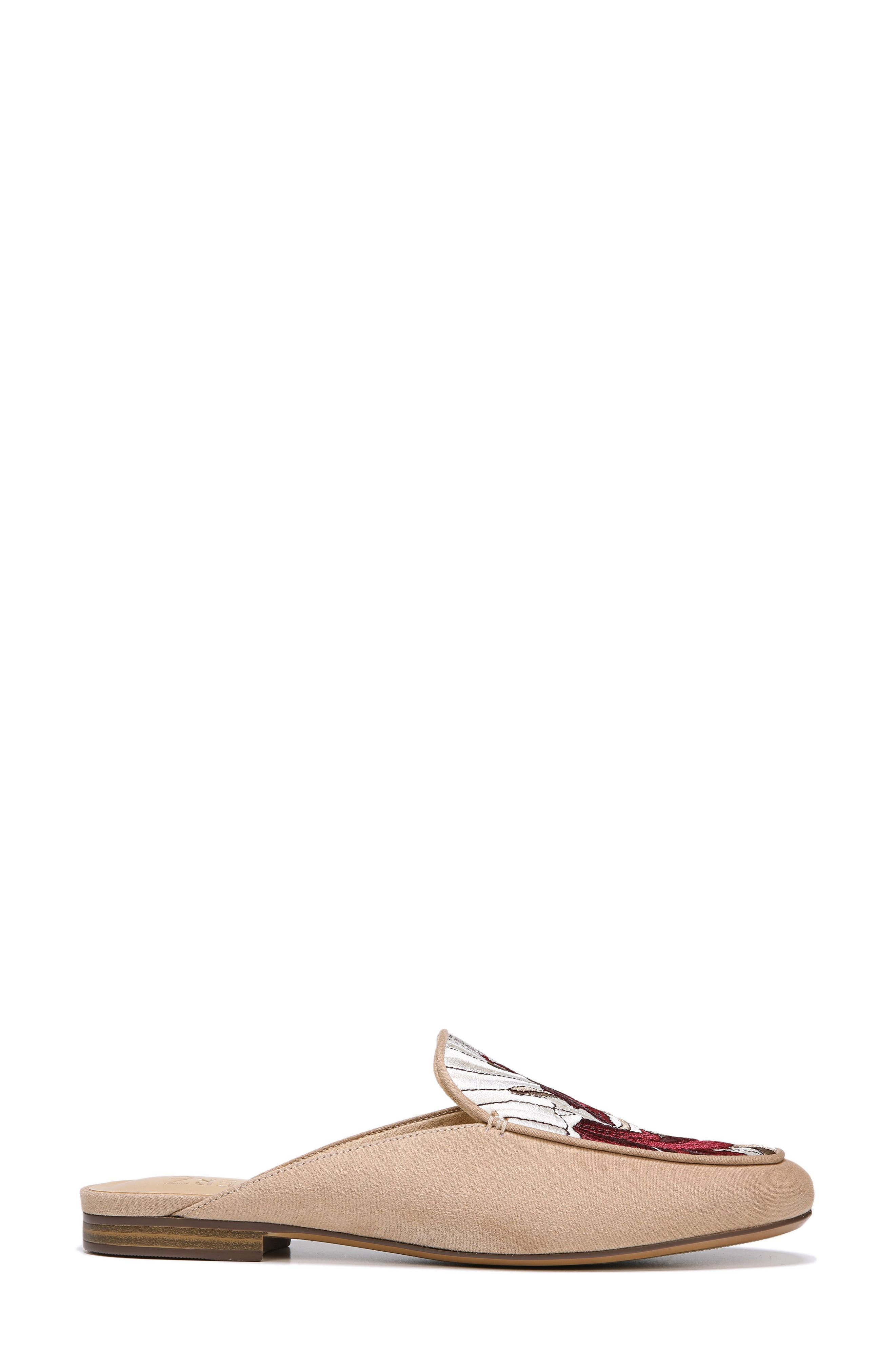 Eden II Embroidered Mule,                             Alternate thumbnail 3, color,                             Barley Fabric