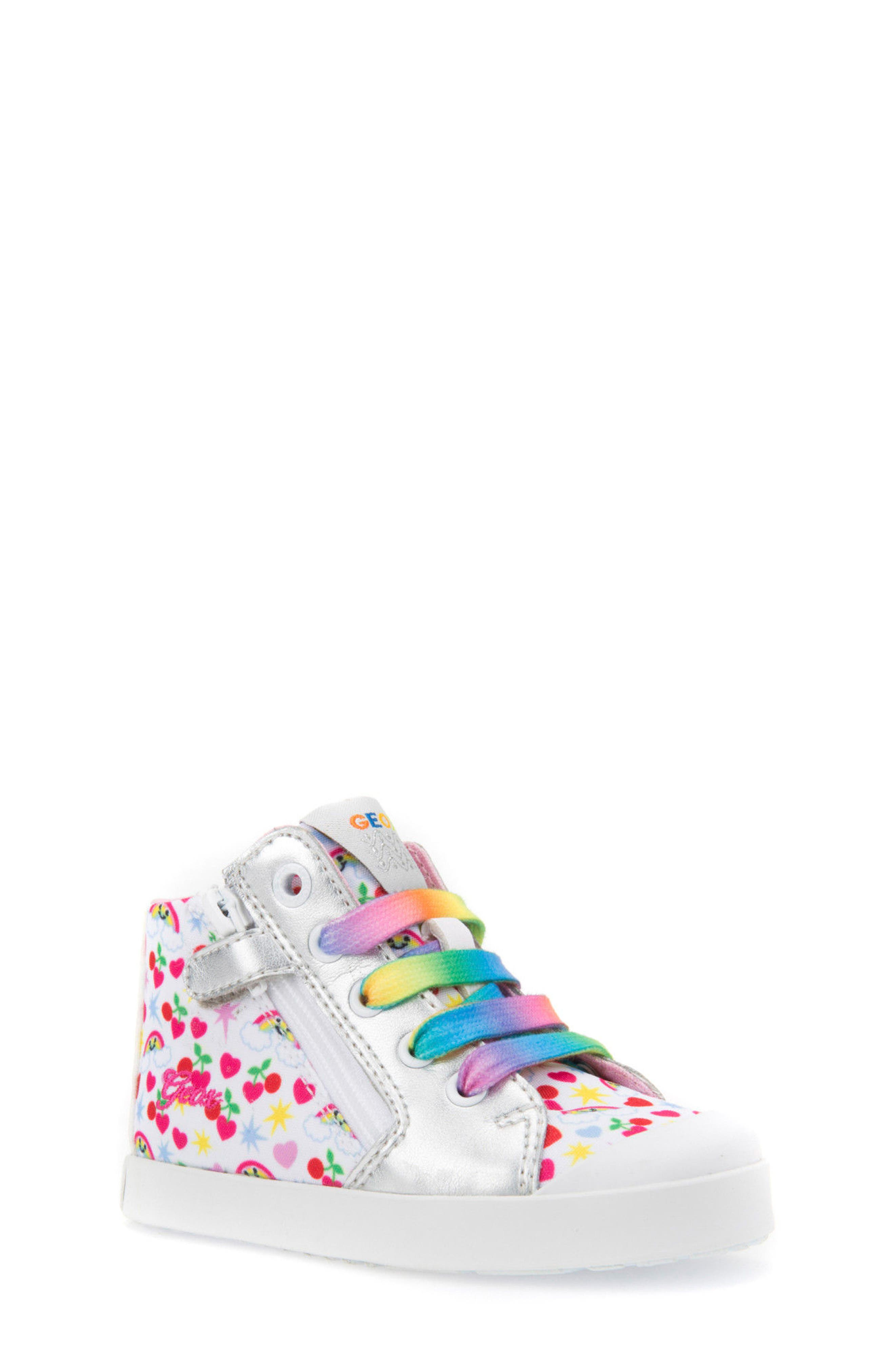 Geox Kilwi Patterned High Top Sneaker (Walker & Toddler)