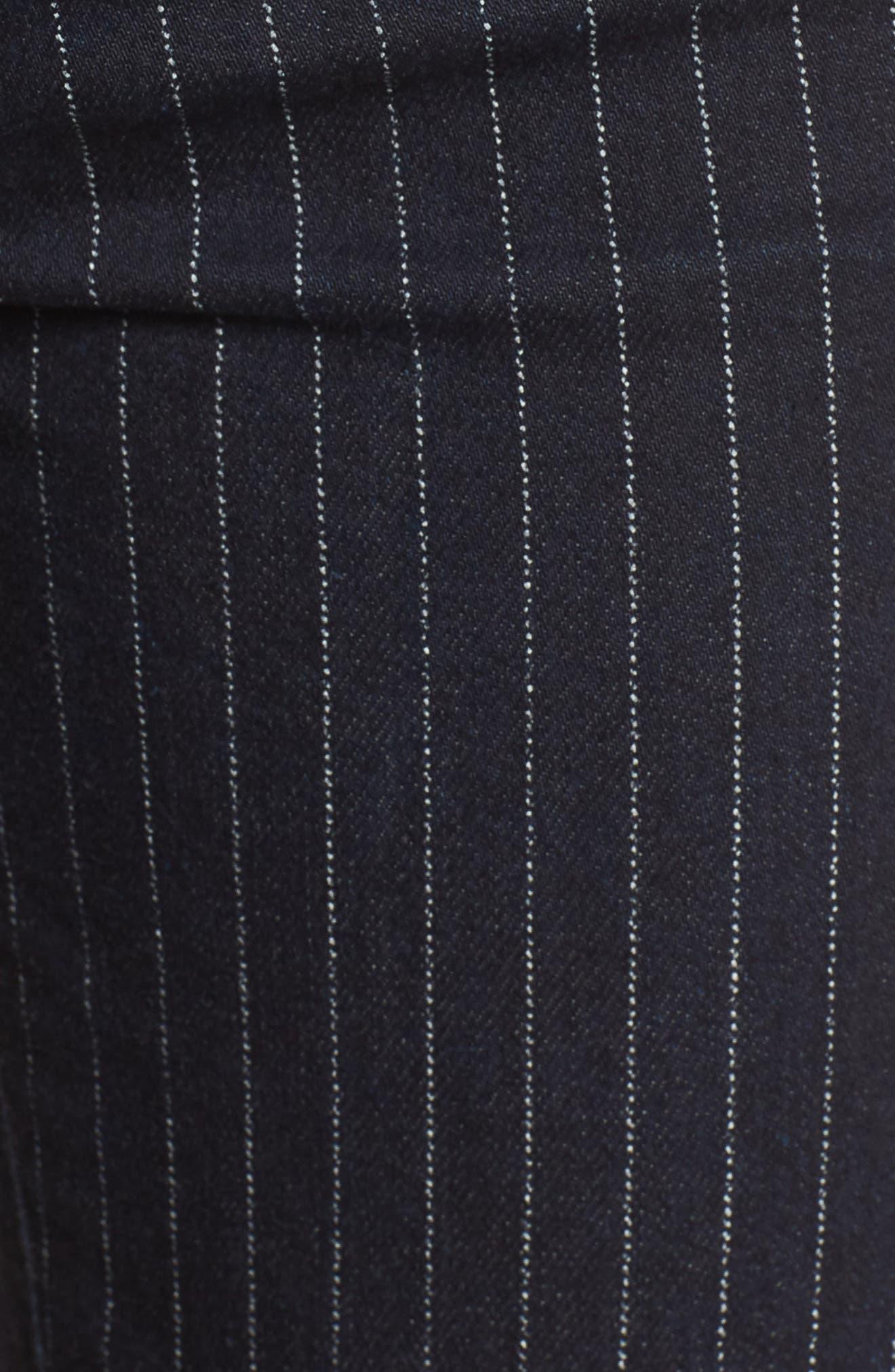 Rocket High Waist Crop Skinny Jeans,                             Alternate thumbnail 6, color,                             Pinstripe