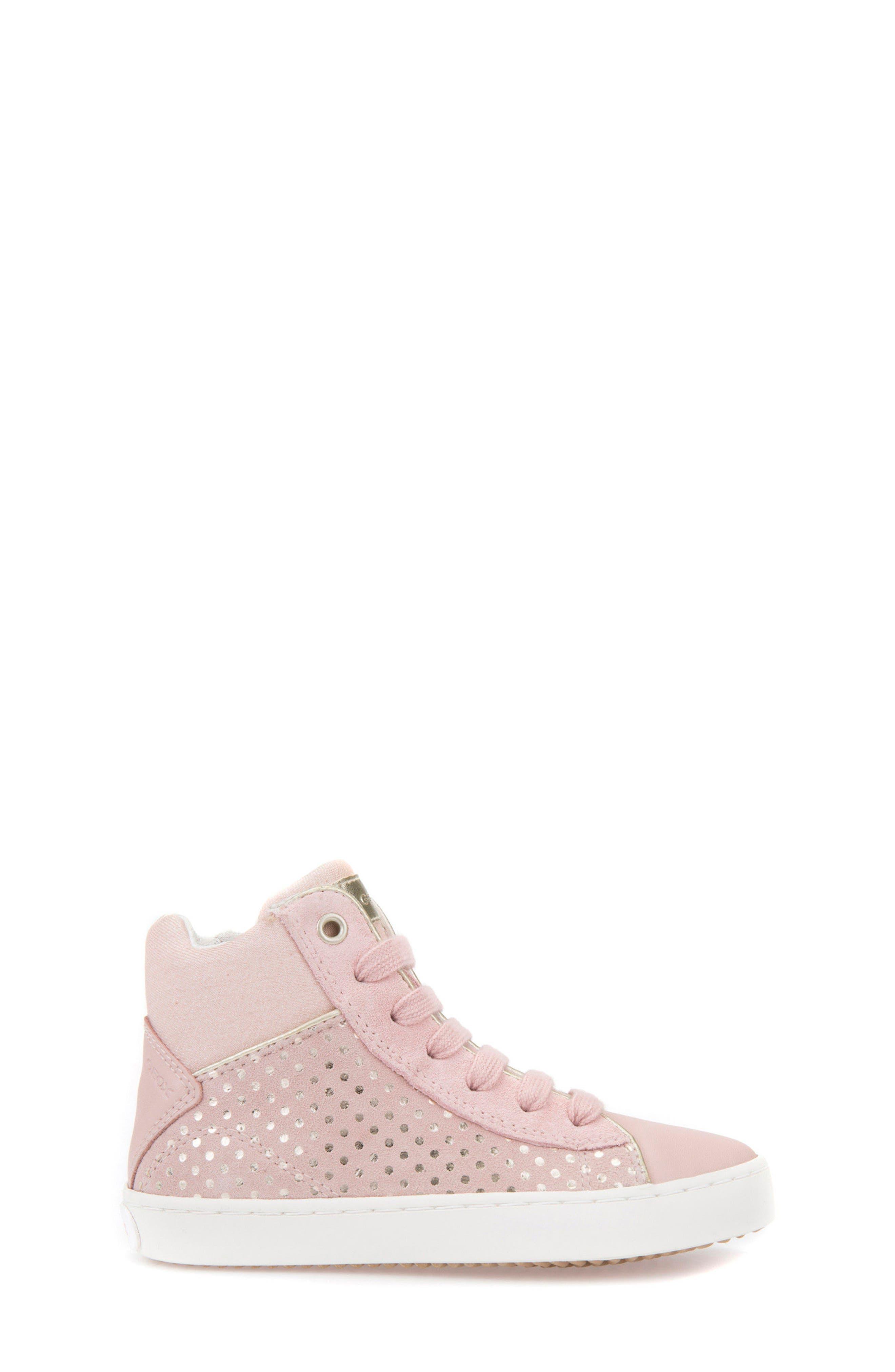 Kilwi High Top Zip Sneaker,                             Alternate thumbnail 3, color,                             Rose
