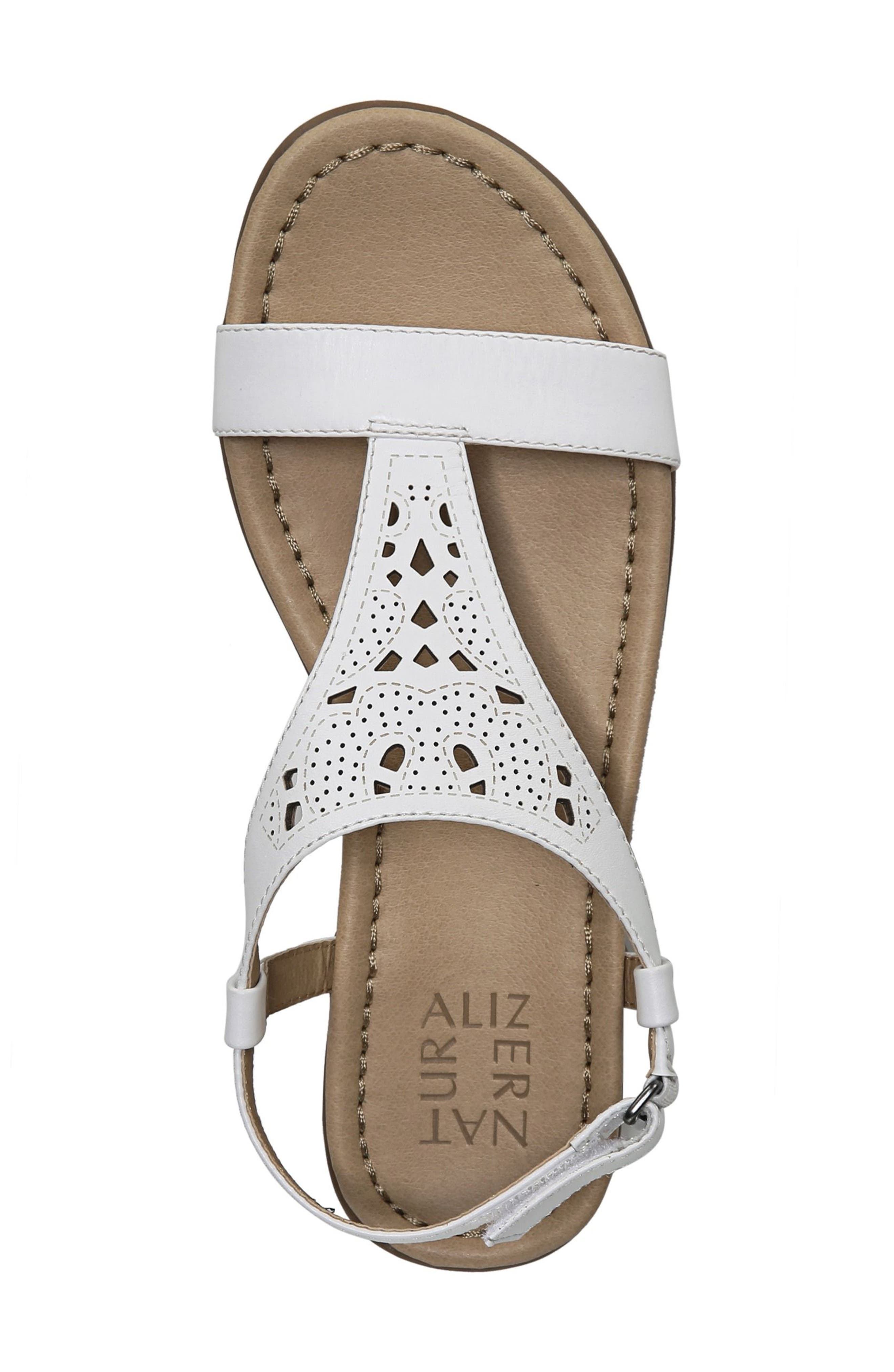 Windham Sandal,                             Alternate thumbnail 4, color,                             White Leather