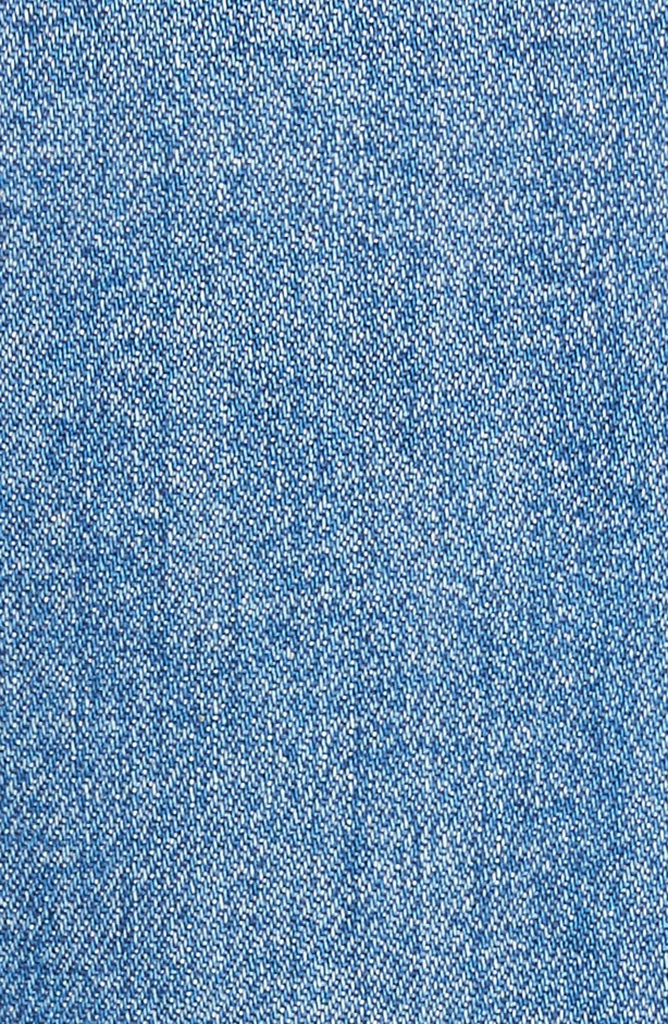 AO.LA Gorgeous Snap Side Crop Flare Jeans,                             Alternate thumbnail 5, color,                             French Blue