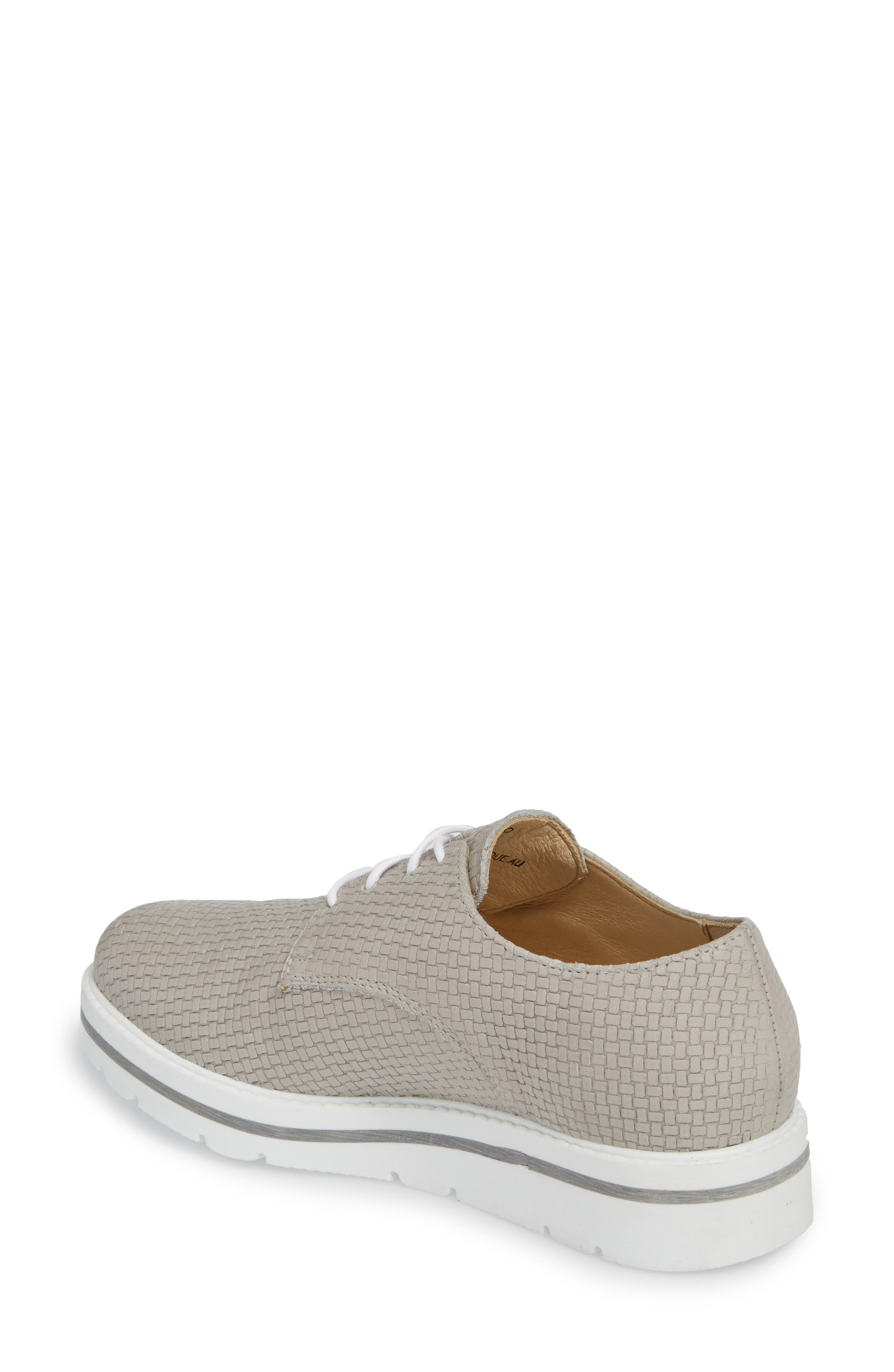 Lando Sneaker Derby,                             Alternate thumbnail 2, color,                             Light Grey Sauvage Leather