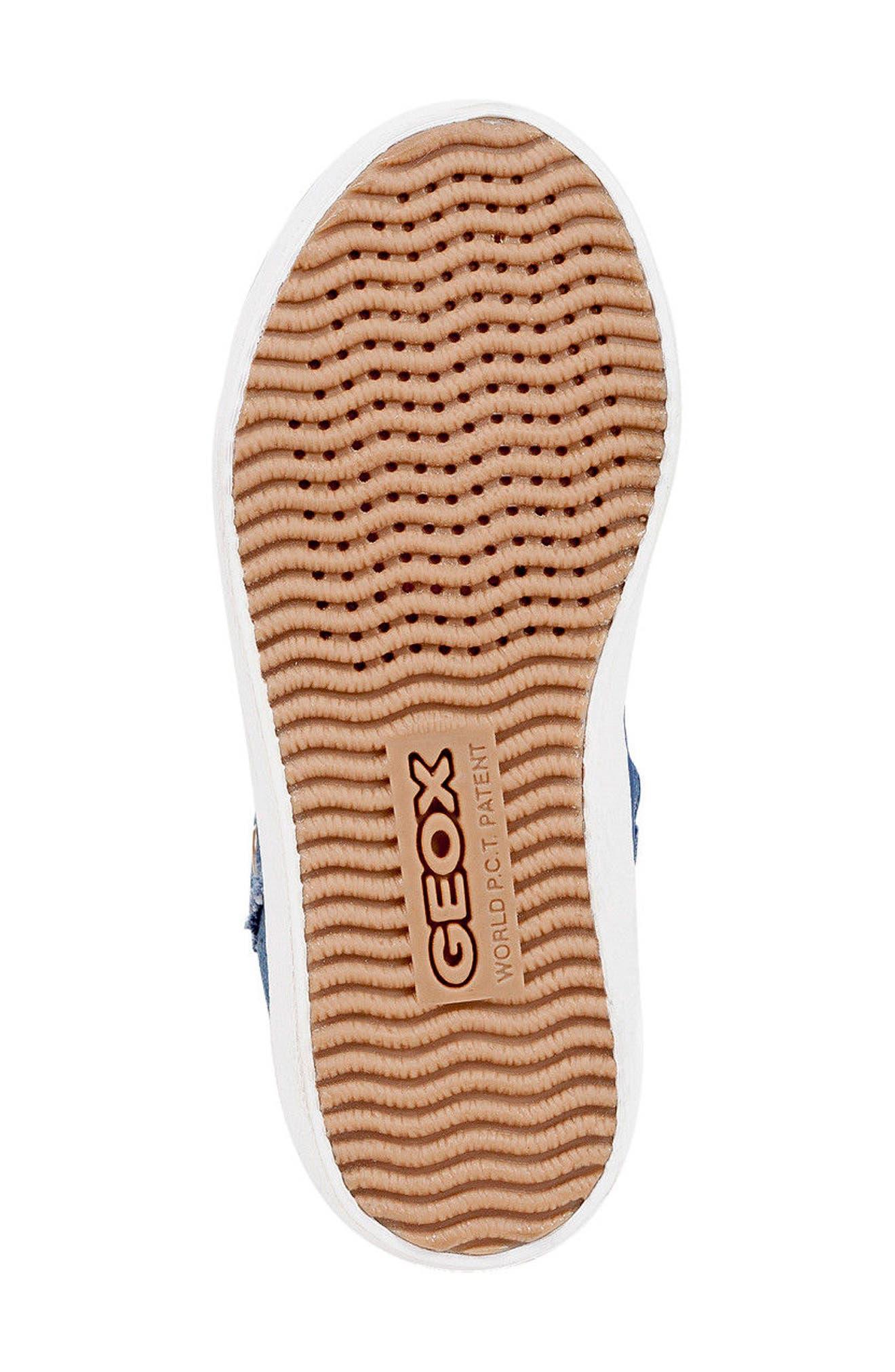 Kilwi High Top Zip Sneaker,                             Alternate thumbnail 5, color,                             Avio