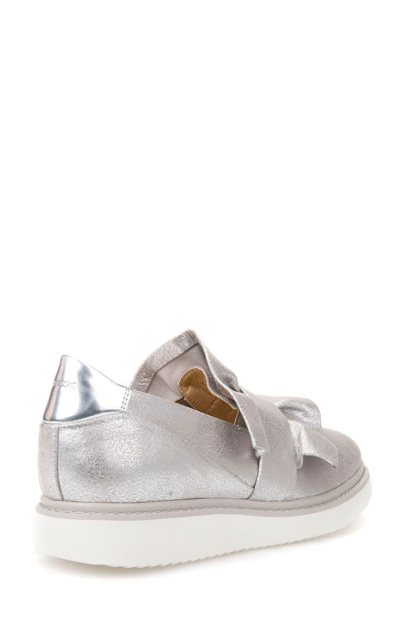 Thymar 15 Slip-On Sneaker,                             Alternate thumbnail 2, color,                             Silver Fabric
