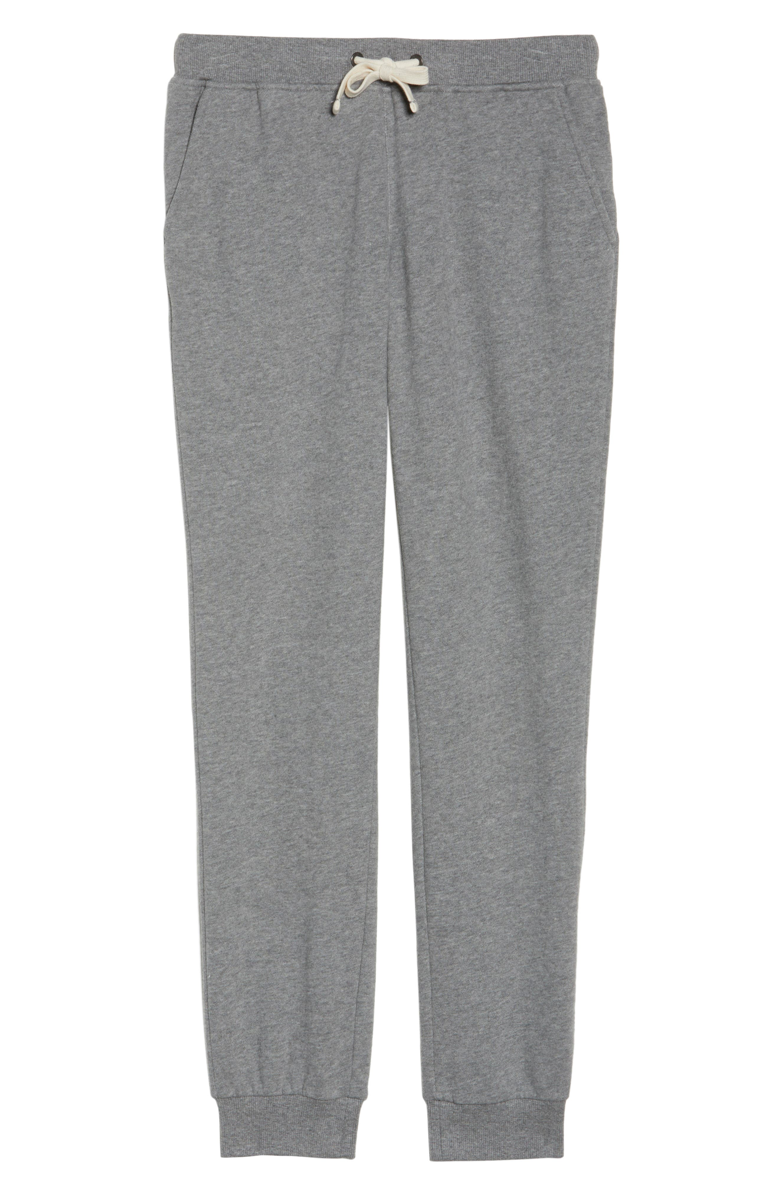Babe Jogger Pants,                             Alternate thumbnail 4, color,                             Heather Grey