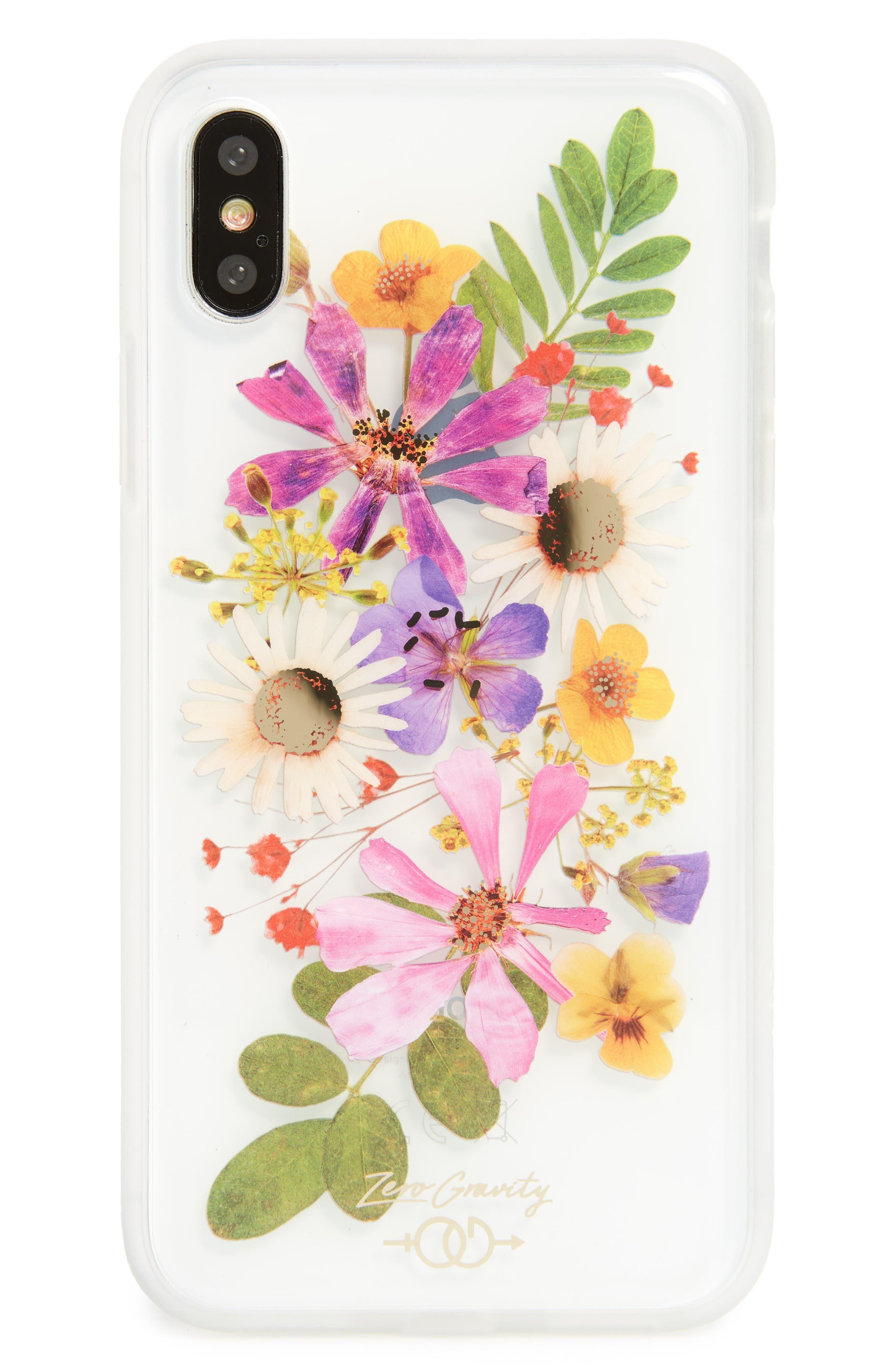 Petal iPhone X Case,                             Main thumbnail 1, color,                             Clear Multi