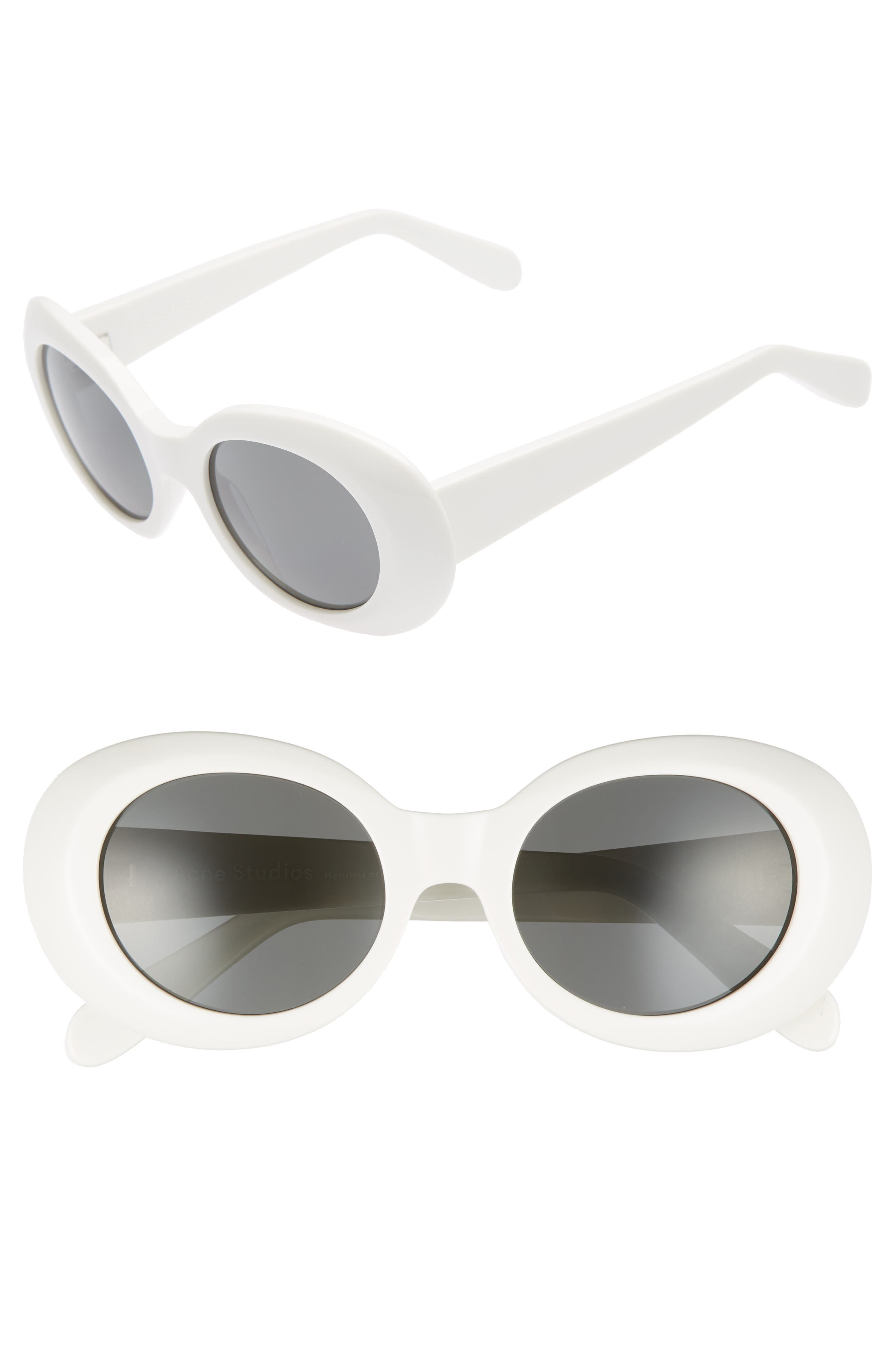 Mustang 48mm Sunglasses,                             Main thumbnail 1, color,                             Off White/ Black