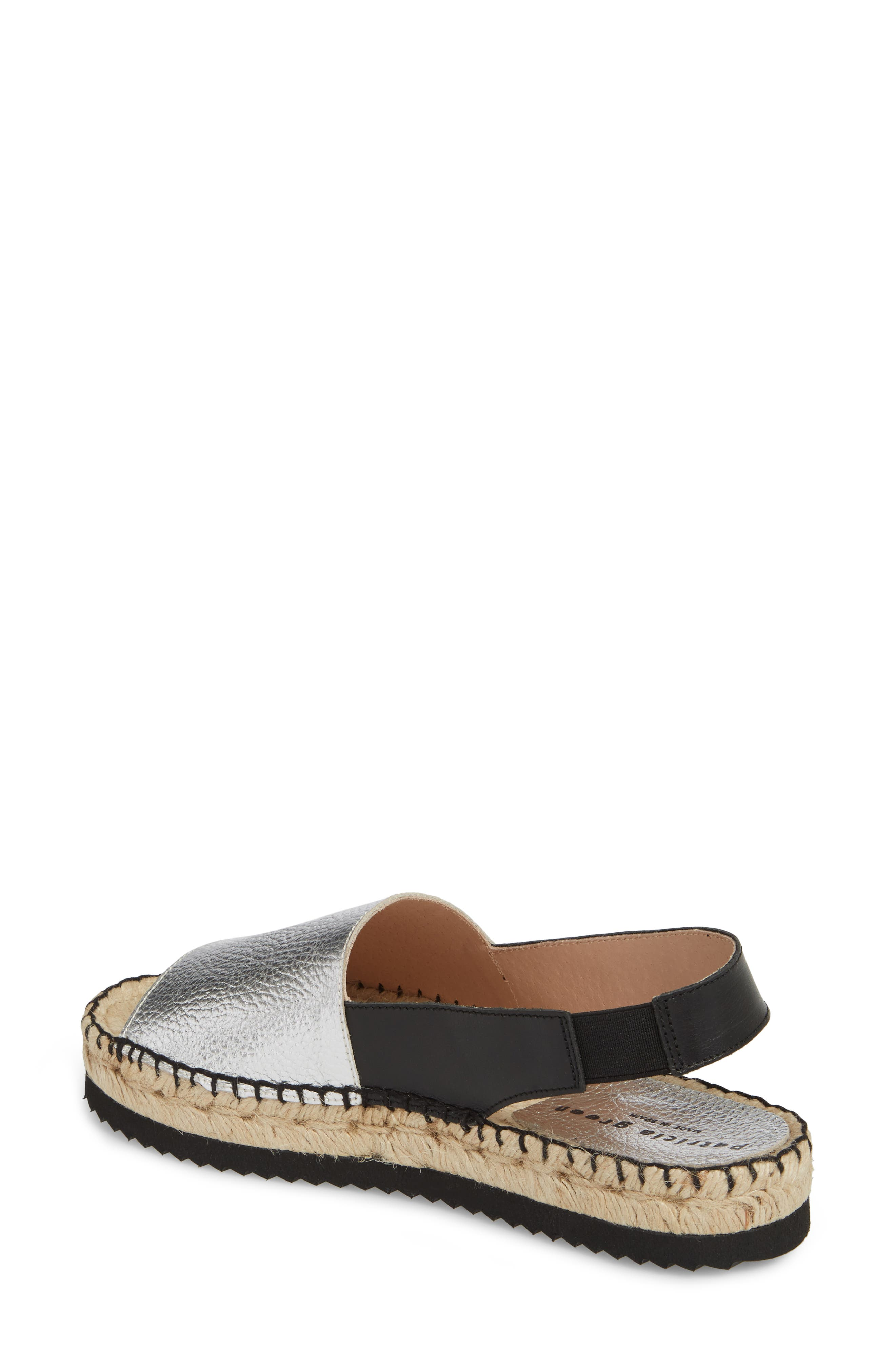 Soho Platform Espadrille Sandal,                             Alternate thumbnail 2, color,                             Silver Suede