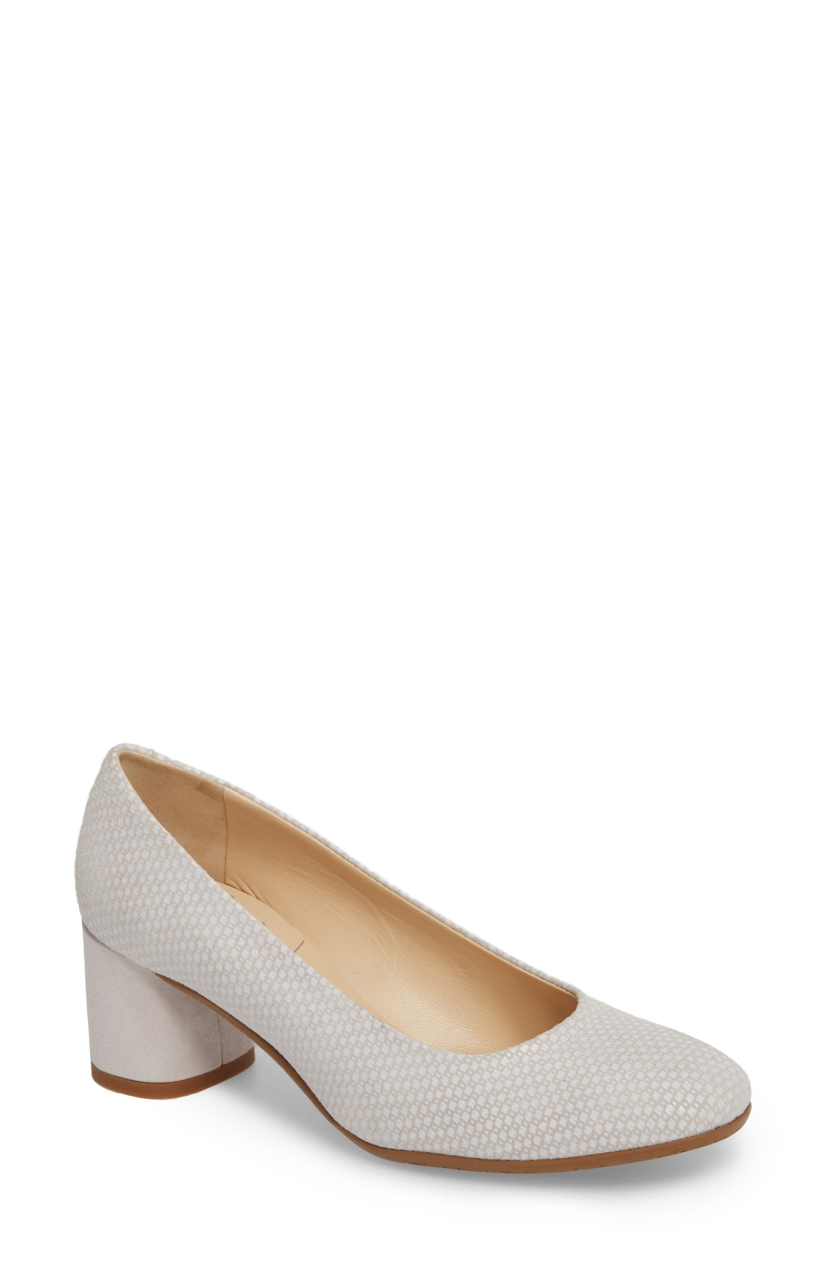 AMALFI BY RANGONI Rosso Pump in Beige/ White Leather