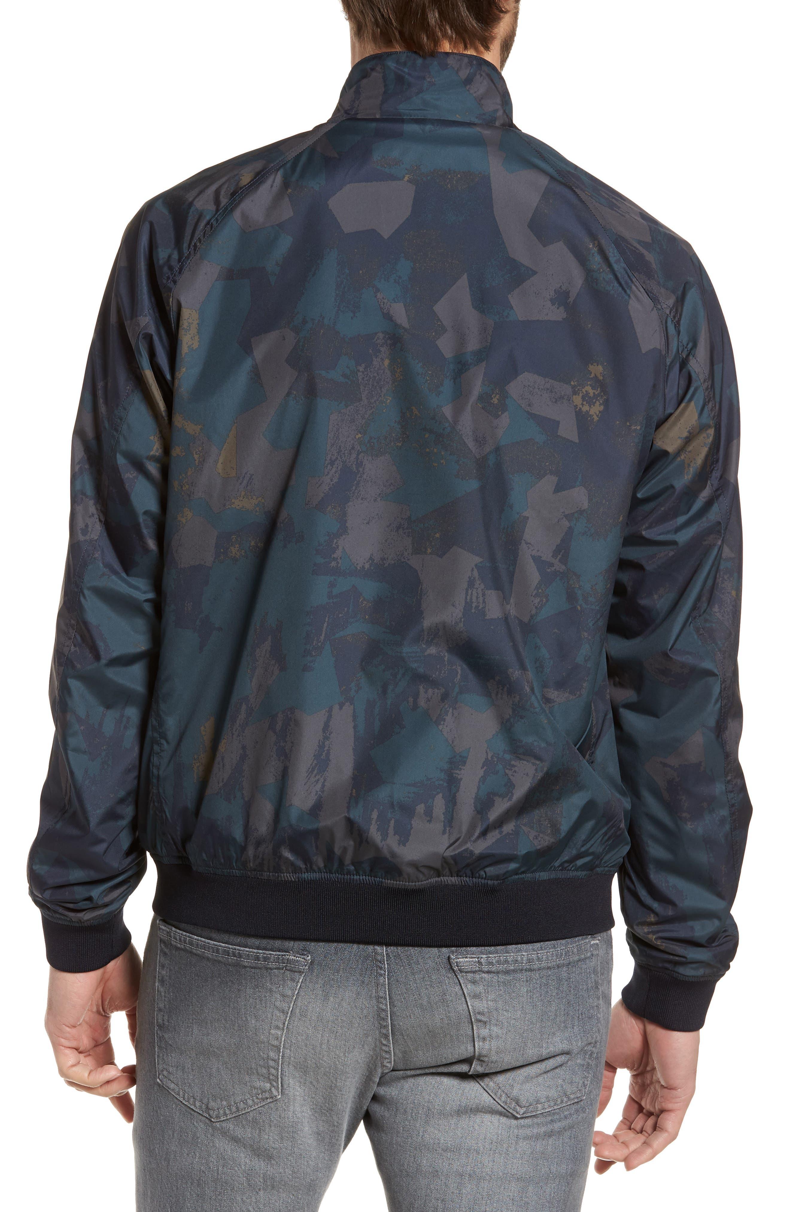 & Bros. Shore Reversible Bomber Jacket,                             Alternate thumbnail 2, color,                             Melton Blue Camo