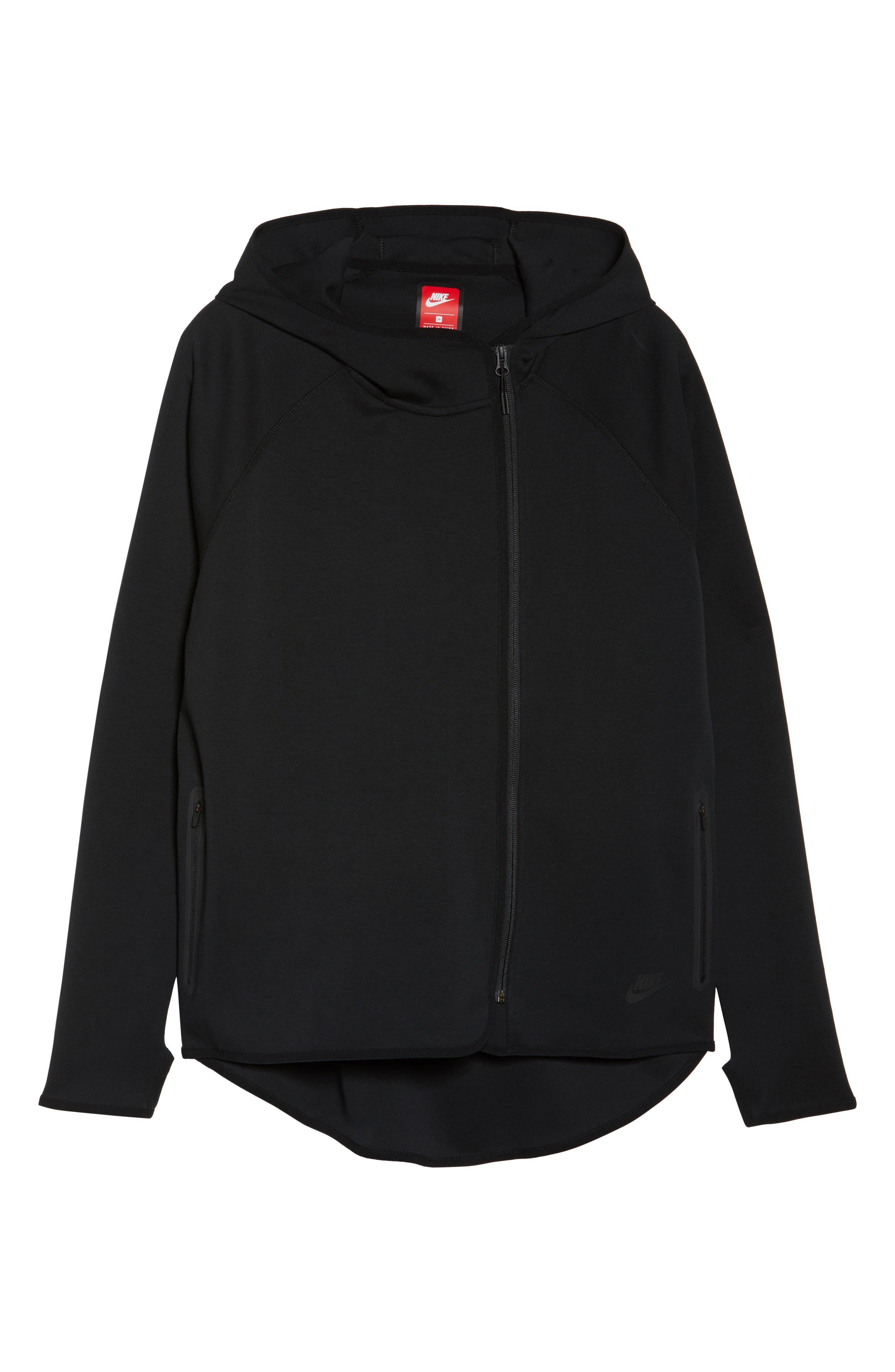 Sportswear Tech Fleece Zip Cape,                             Alternate thumbnail 6, color,                             Black/ Black