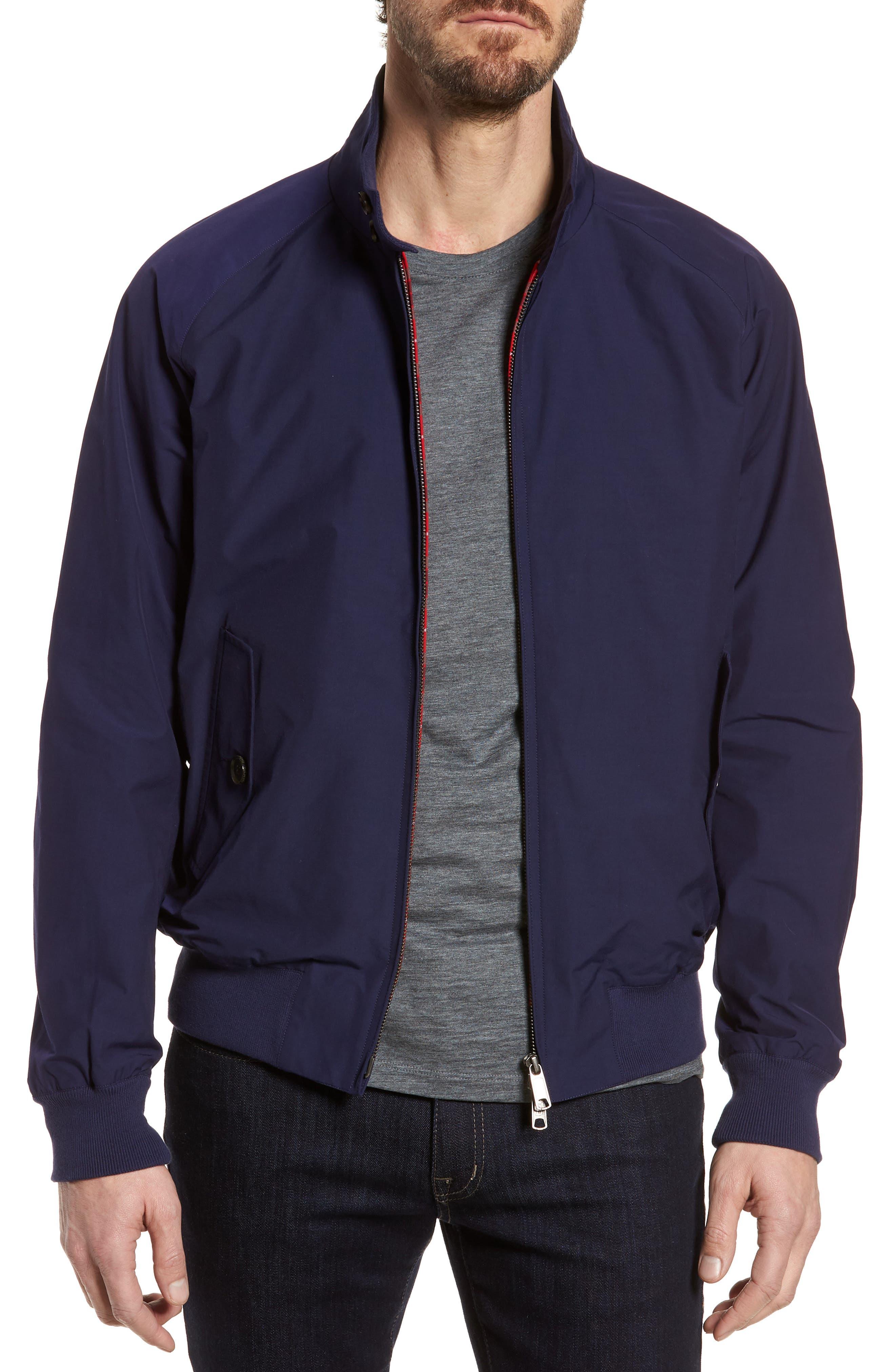 G9 Water Repellent Harrington Jacket,                             Main thumbnail 1, color,                             Indigo