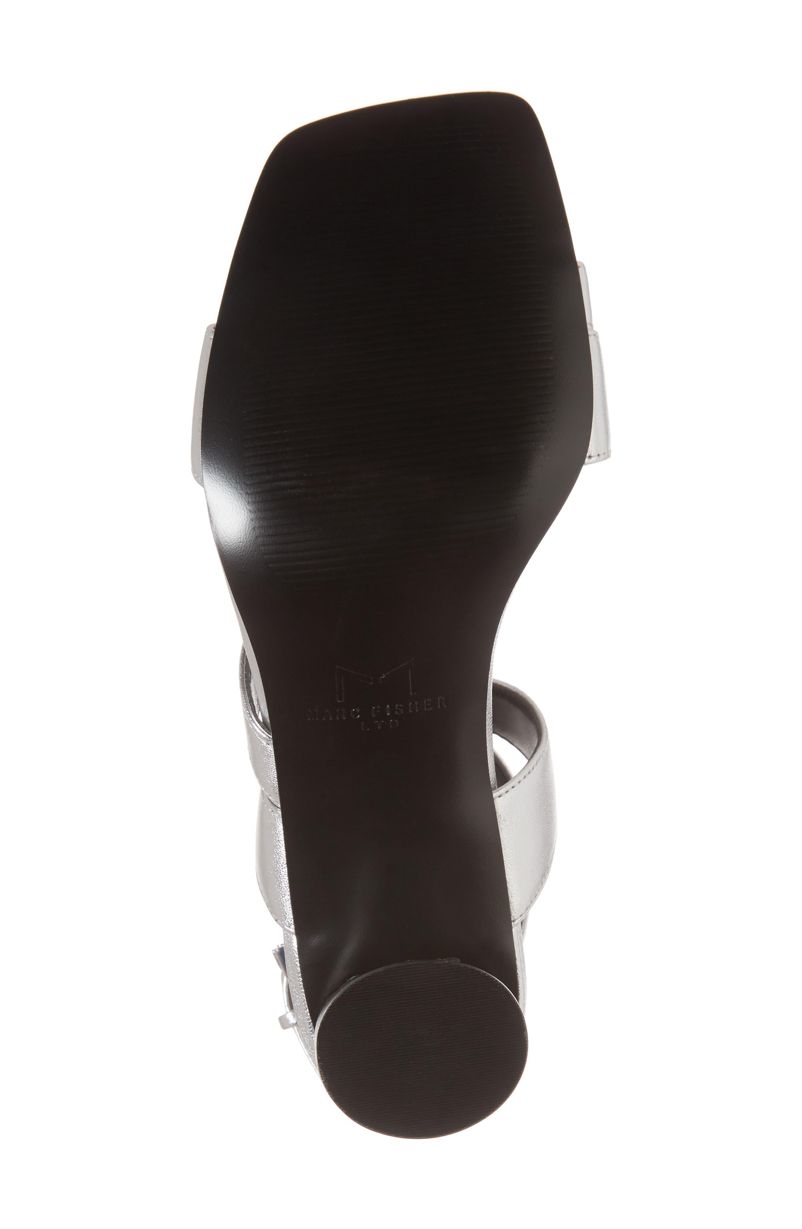 Marc Fischer LTD Idana Strappy Sandal,                             Alternate thumbnail 6, color,                             Silver Leather