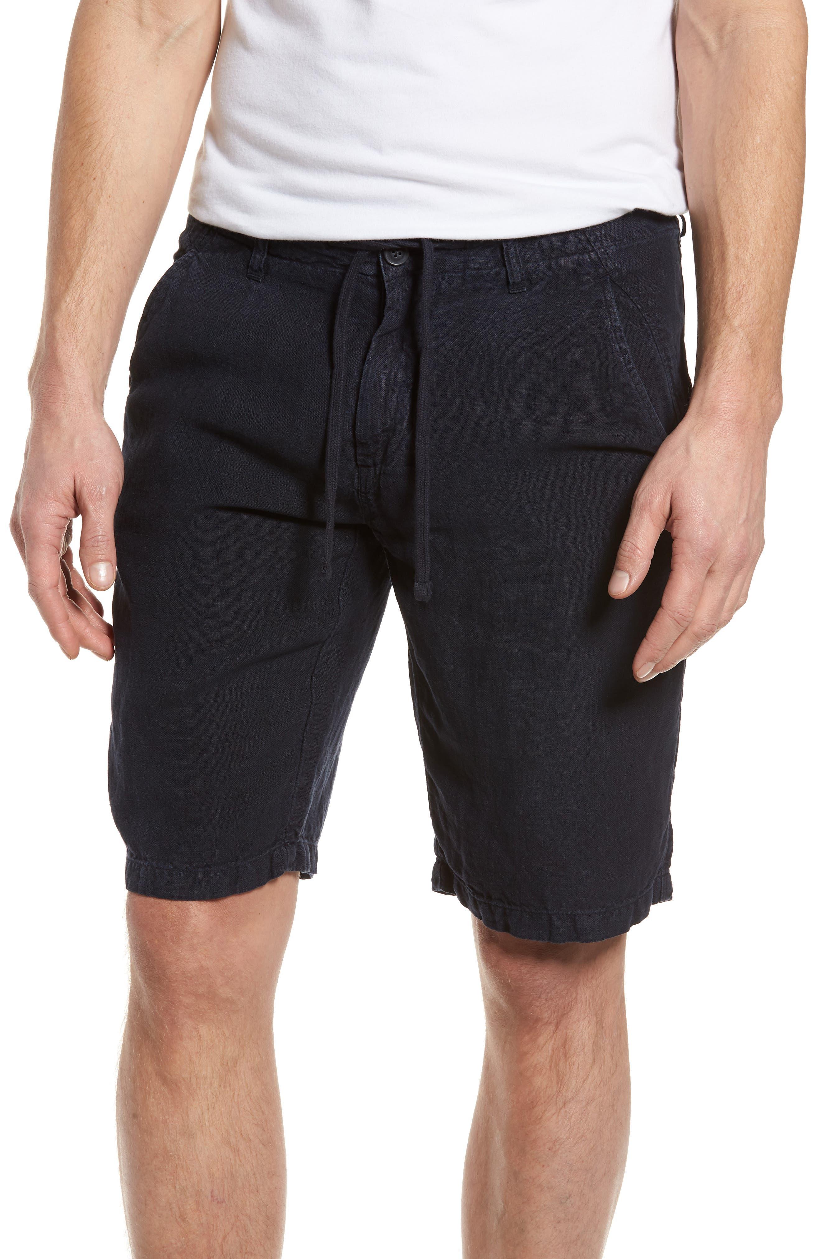 & Bros. Linen Shorts,                             Main thumbnail 1, color,                             Alpine Navy