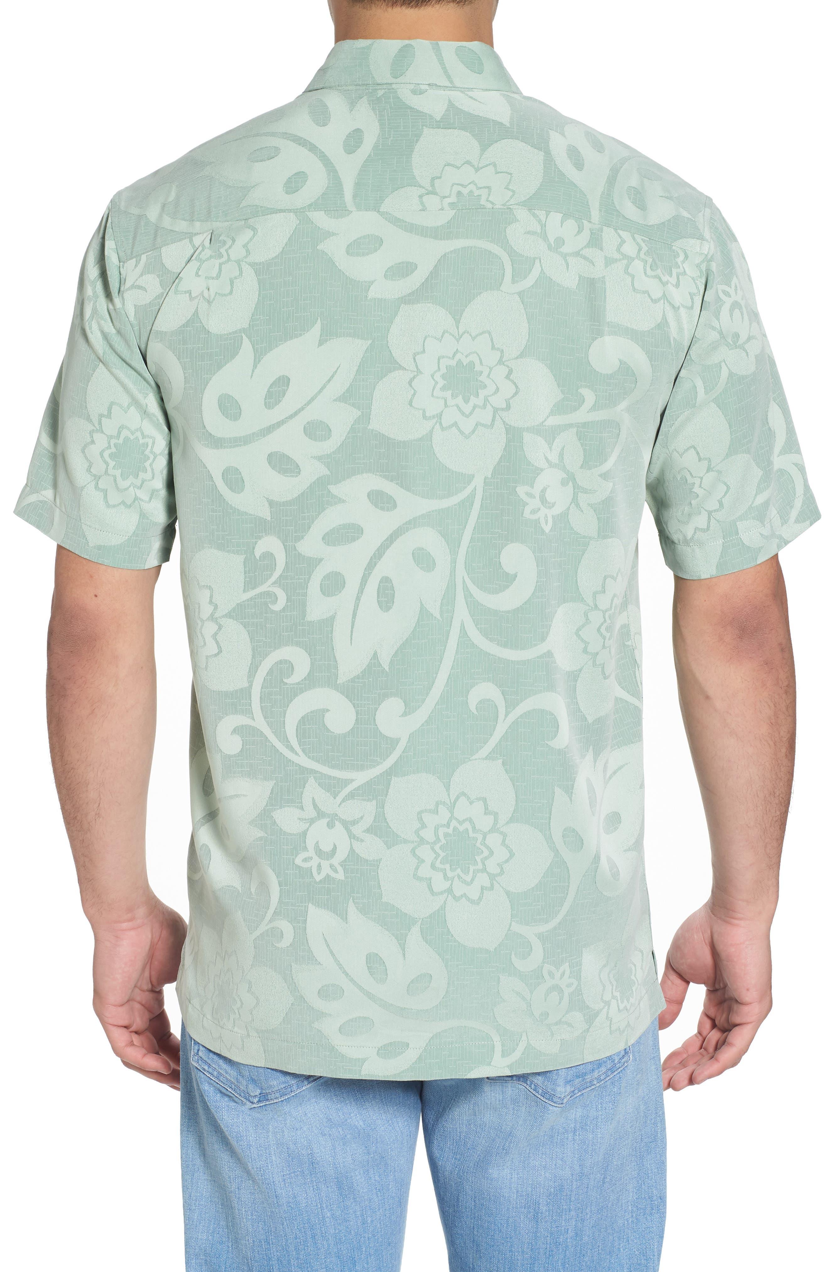 Kalawai Relaxed Fit Camp Shirt,                             Alternate thumbnail 2, color,                             Green