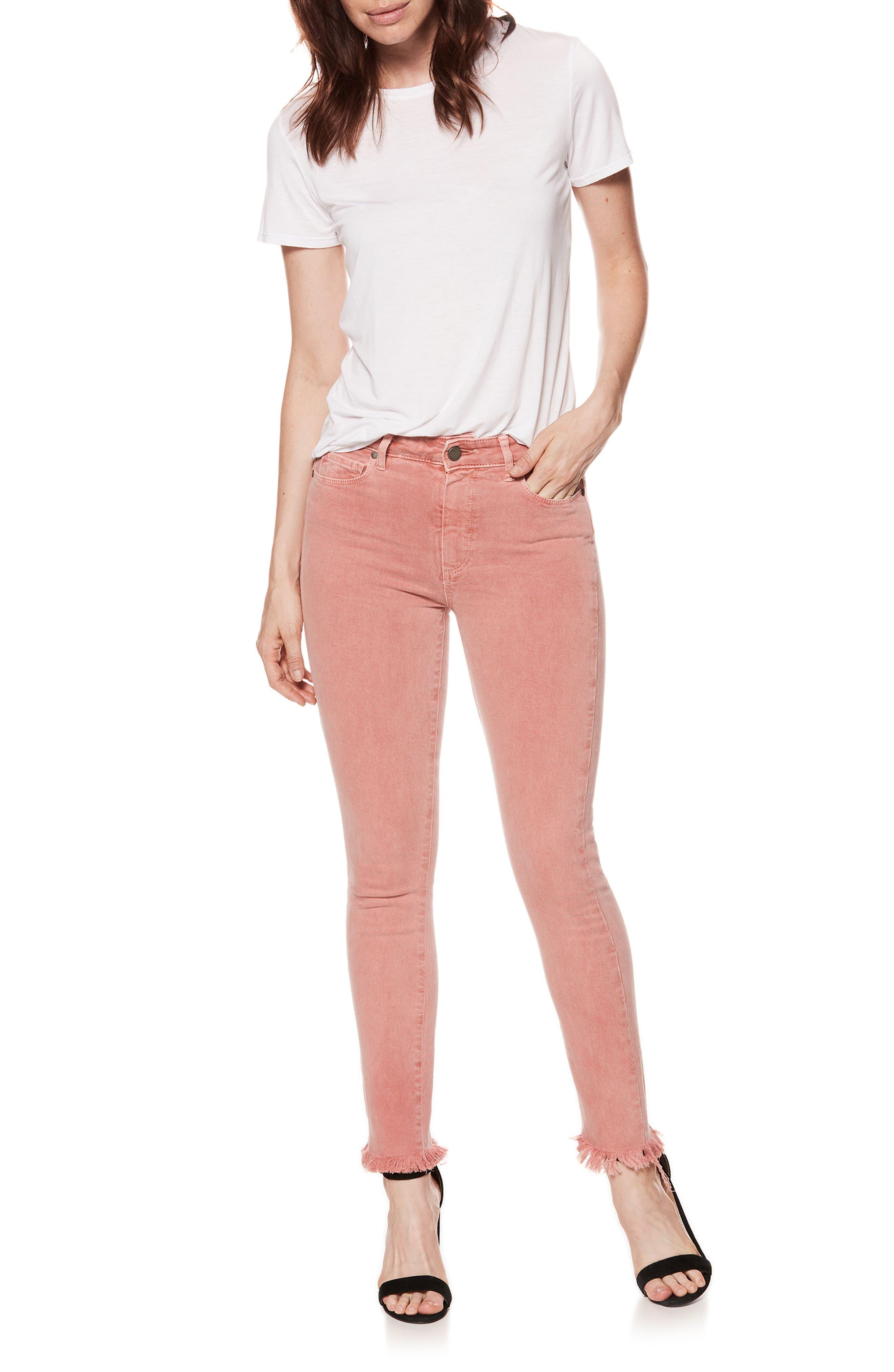 Alternate Image 2  - PAIGE Hoxton High Waist Ankle Skinny Jeans