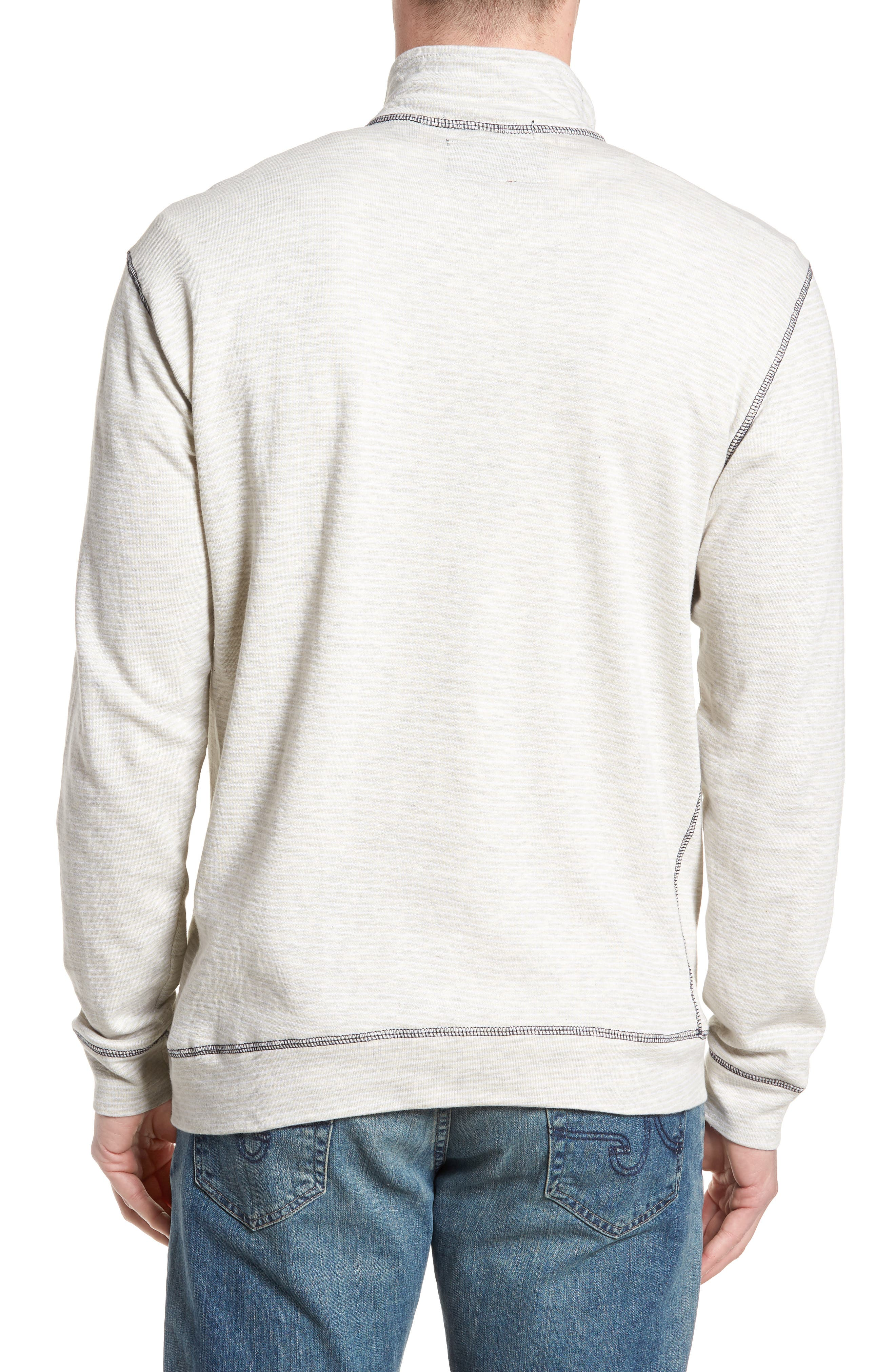 Space Dye Stripe French Terry Pullover,                             Alternate thumbnail 2, color,                             Oatmeal