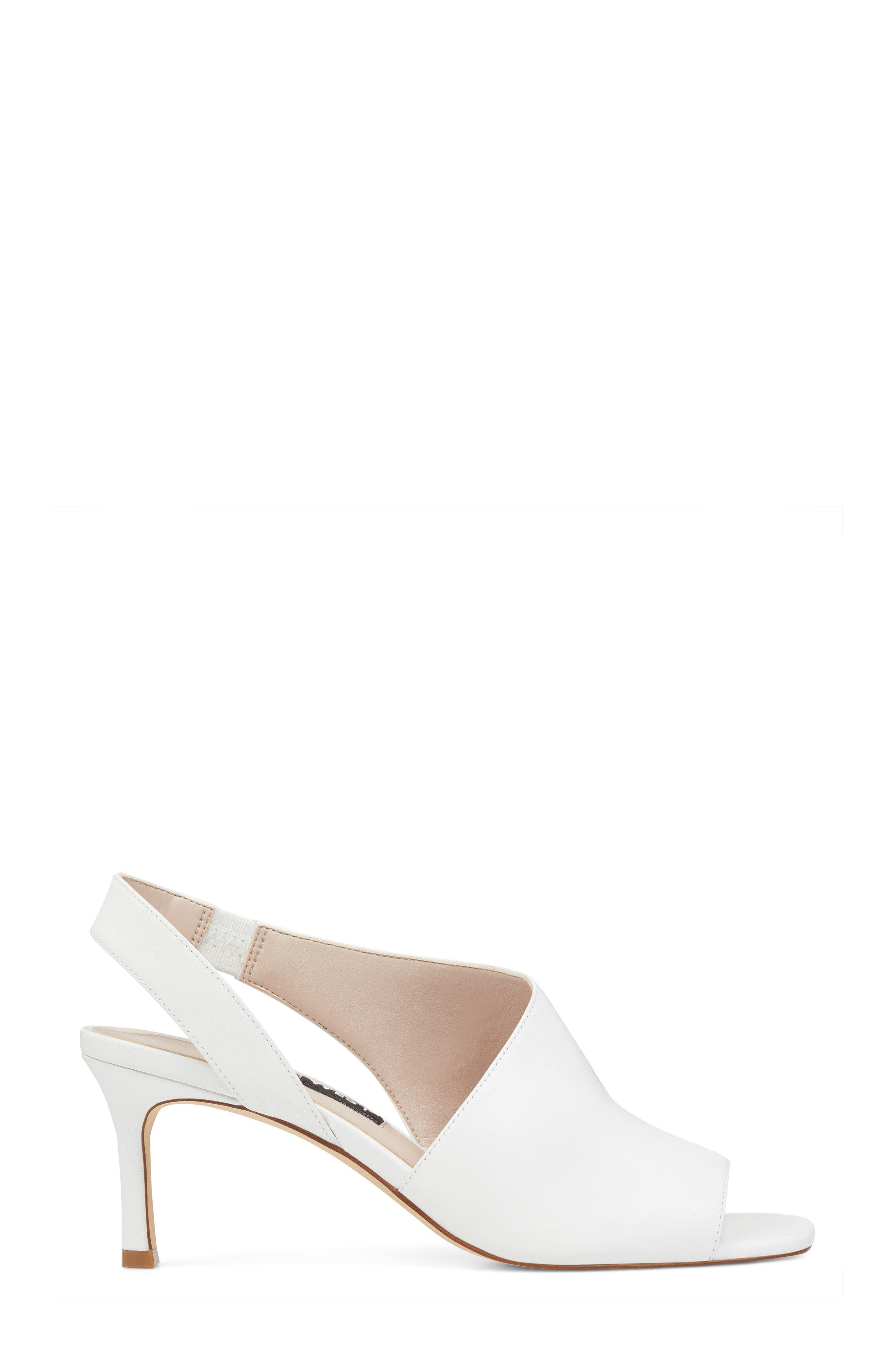 Orrus Asymmetrical Sandal,                             Alternate thumbnail 3, color,                             White Leather