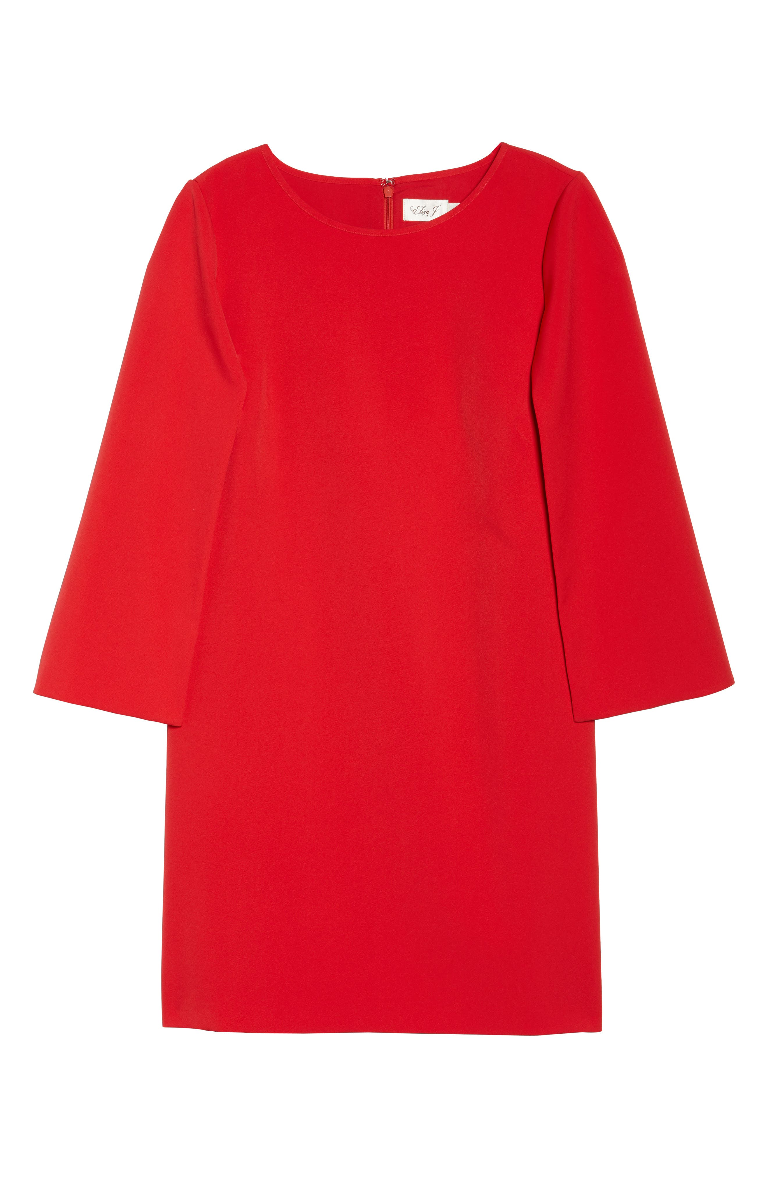 Jewel Neck Cape Sleeve Dress,                             Alternate thumbnail 7, color,                             Red