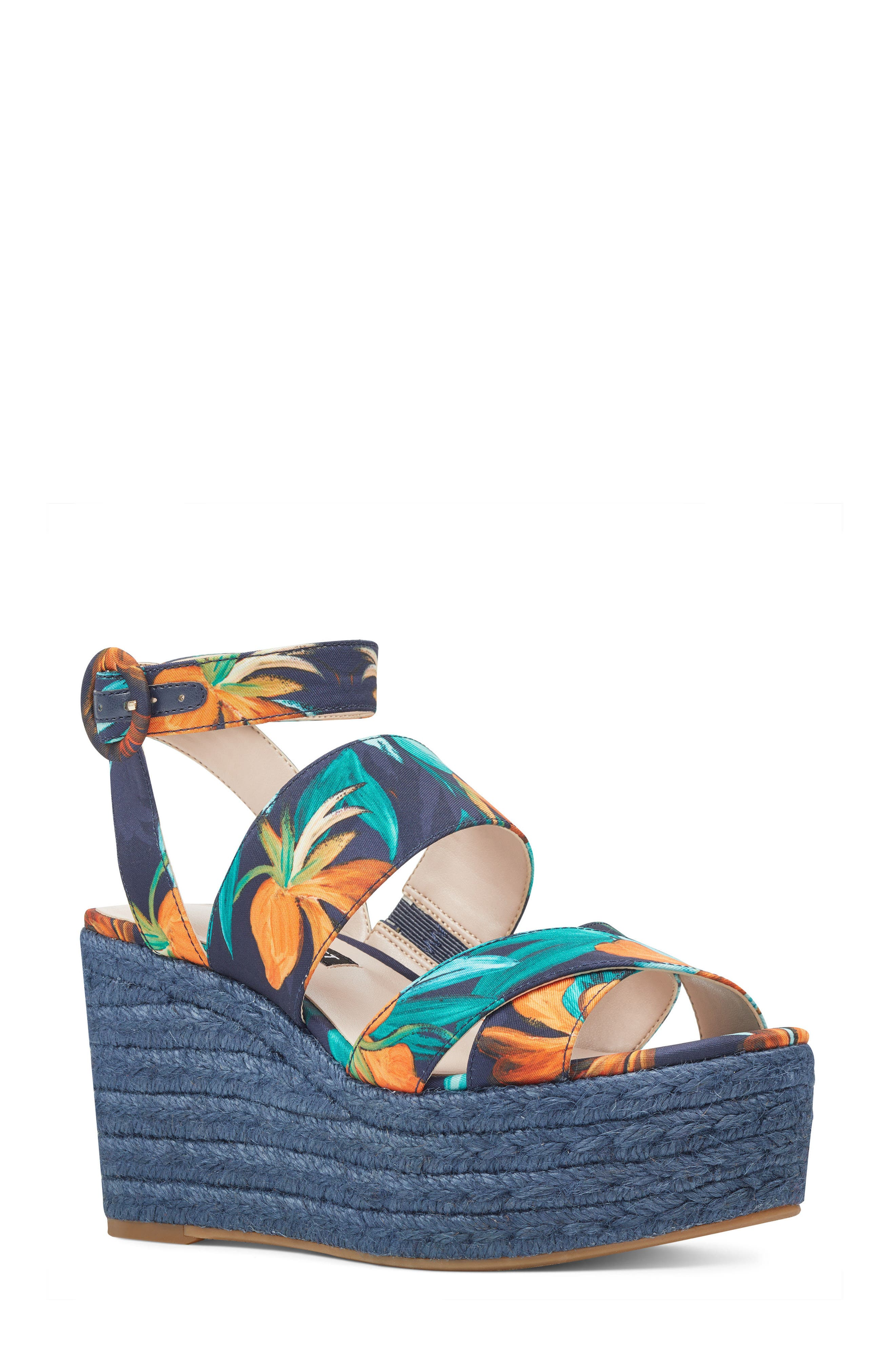 Nine West Kushala Espadrille Platform Wedge Sandal (Women)