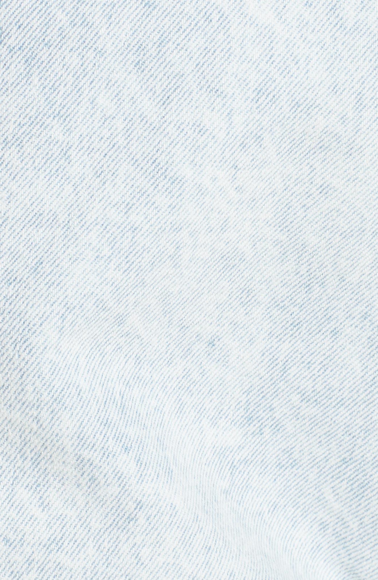 Unionbay Devo Acid Wash Denim Shorts,                             Alternate thumbnail 5, color,                             Icy Wash