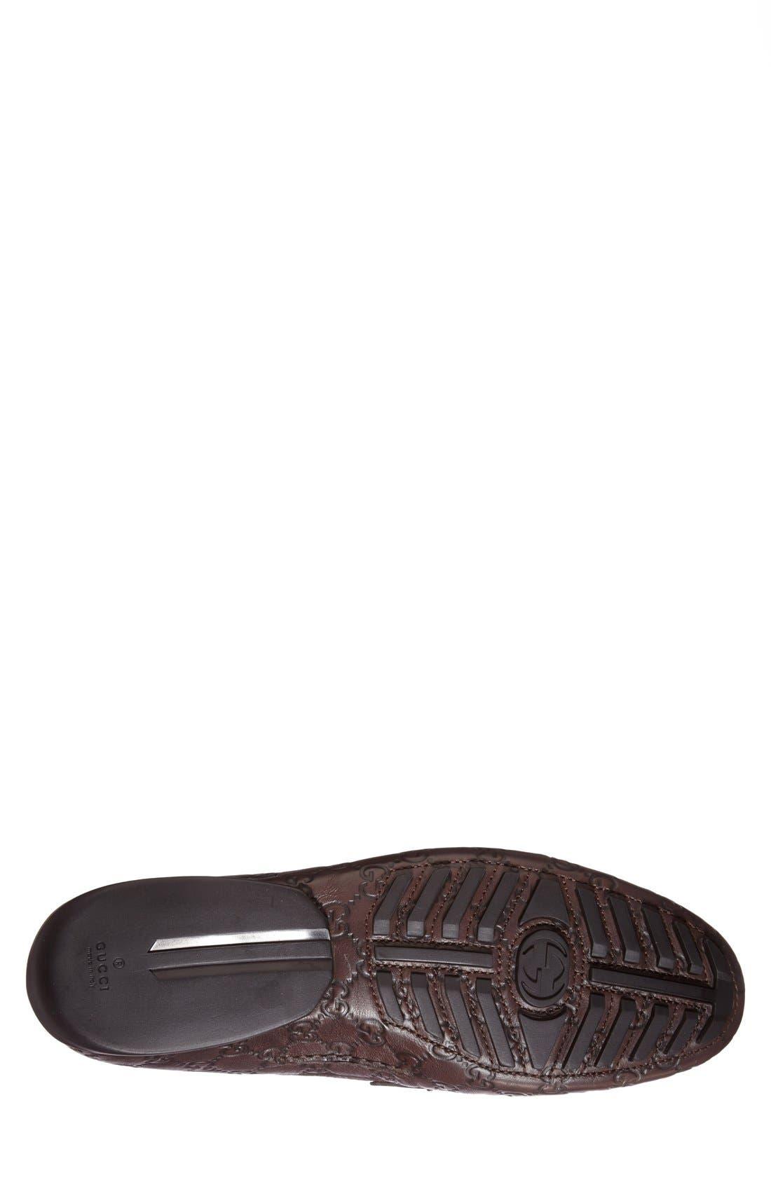 San Marino Driving Shoe,                             Alternate thumbnail 4, color,                             Dark Chocolate