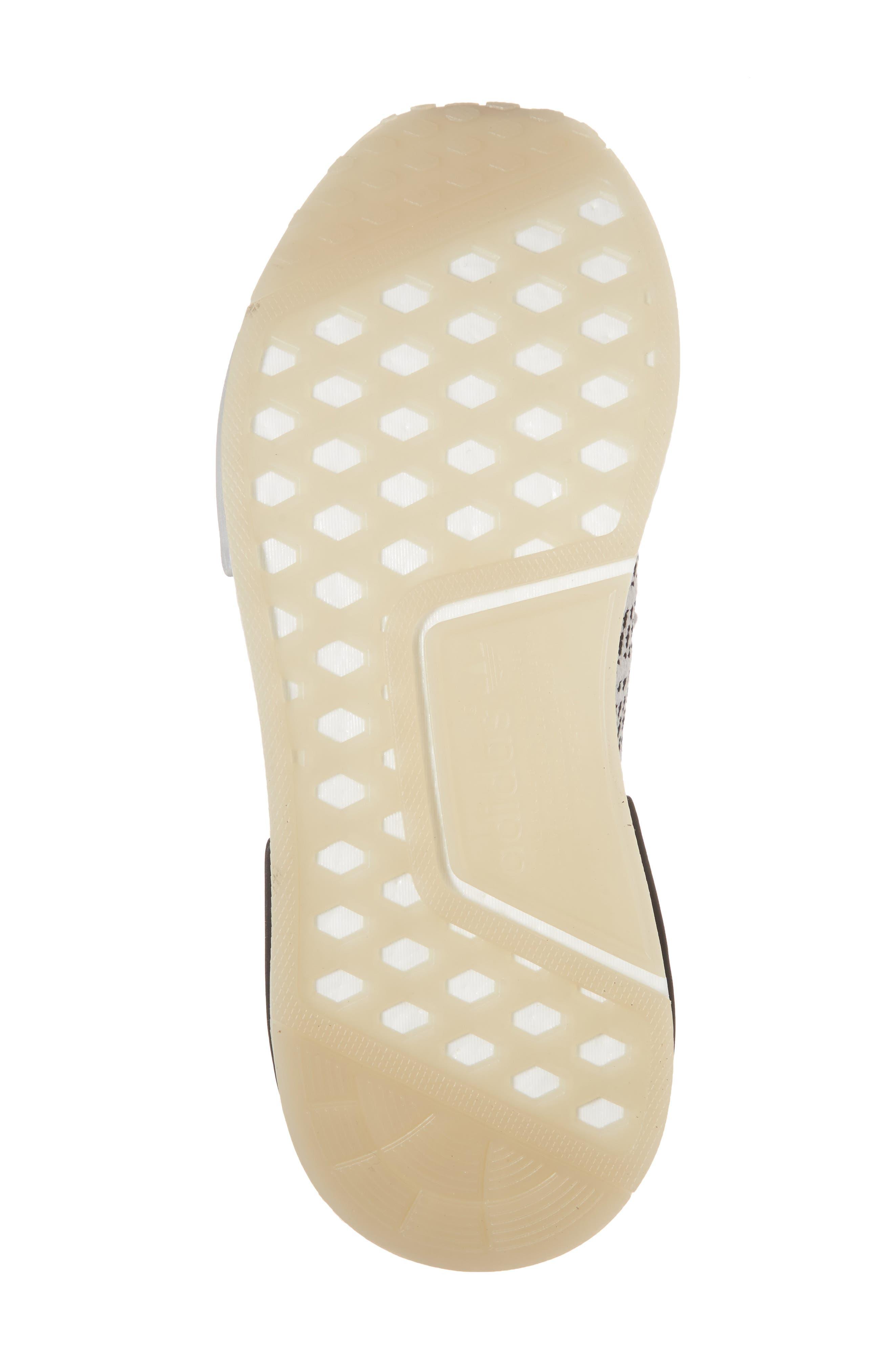 NMD R1 STLT Primeknit Sneaker,                             Alternate thumbnail 6, color,                             Grey/ Core Black
