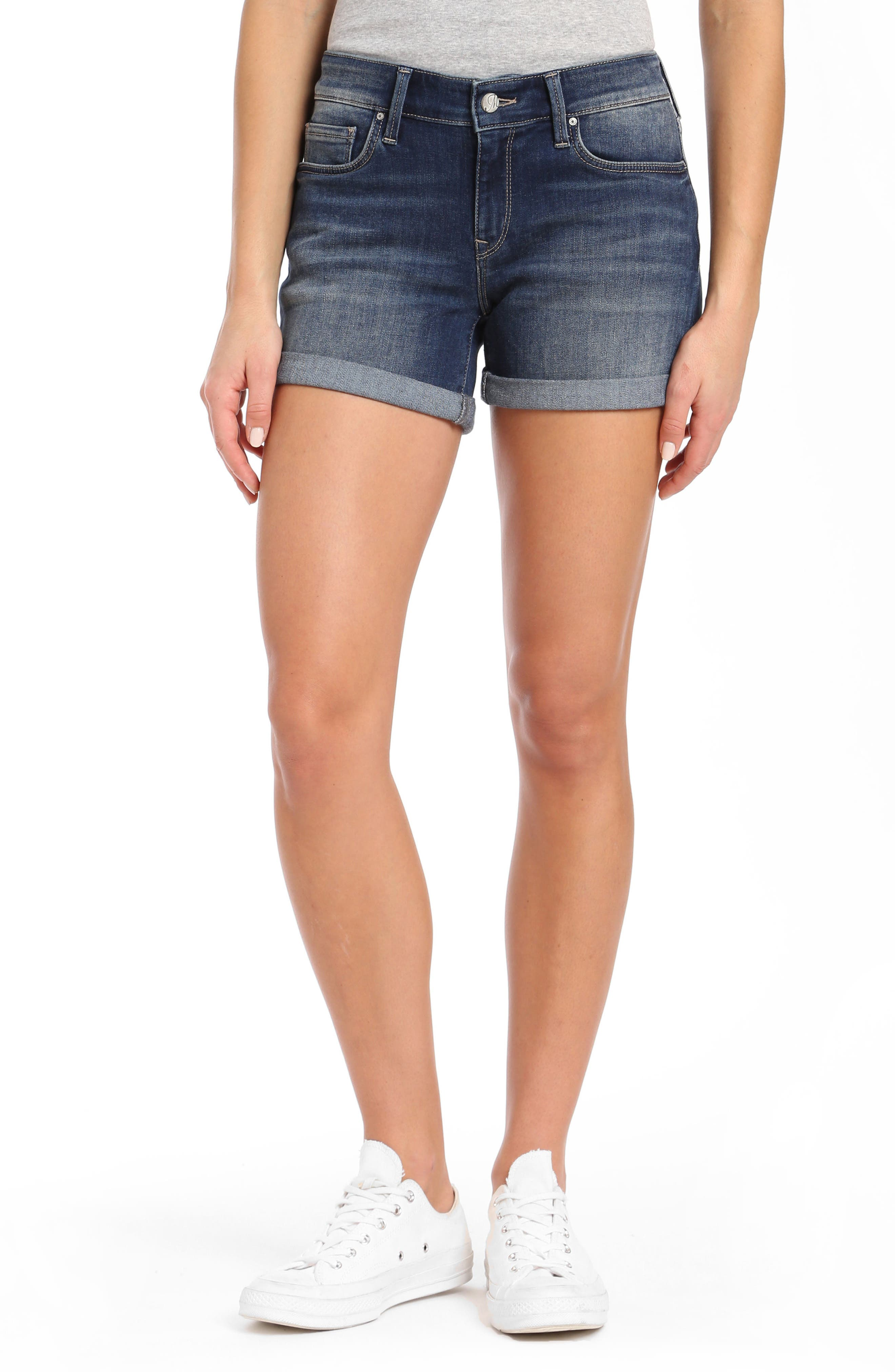 Vanna Roll Cuff Shorts,                         Main,                         color, Dark Shaded Tribeca