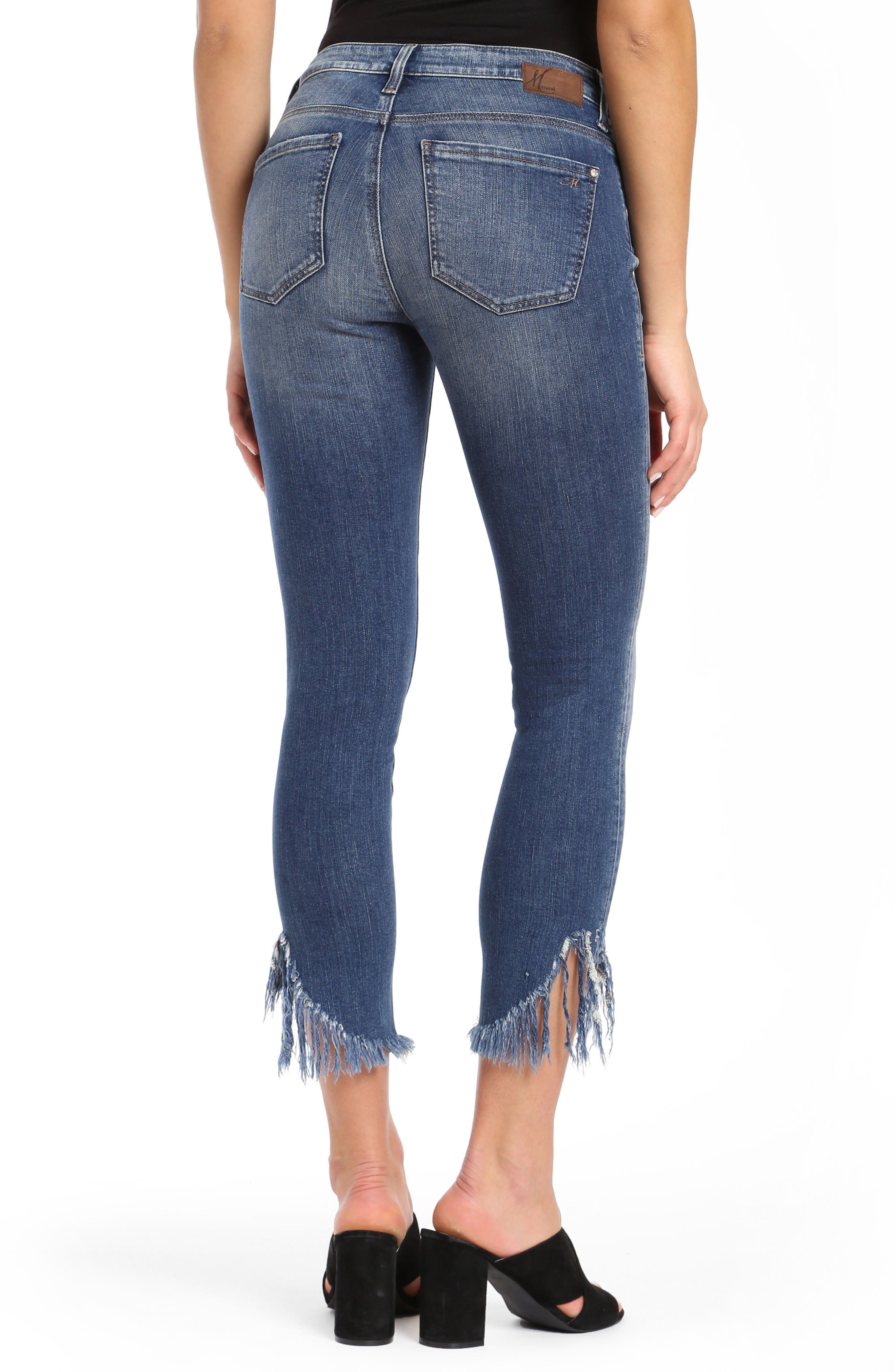 Tess Extreme Ripped Super Skinny Jeans,                             Alternate thumbnail 2, color,                             Extreme Ripped Vintage