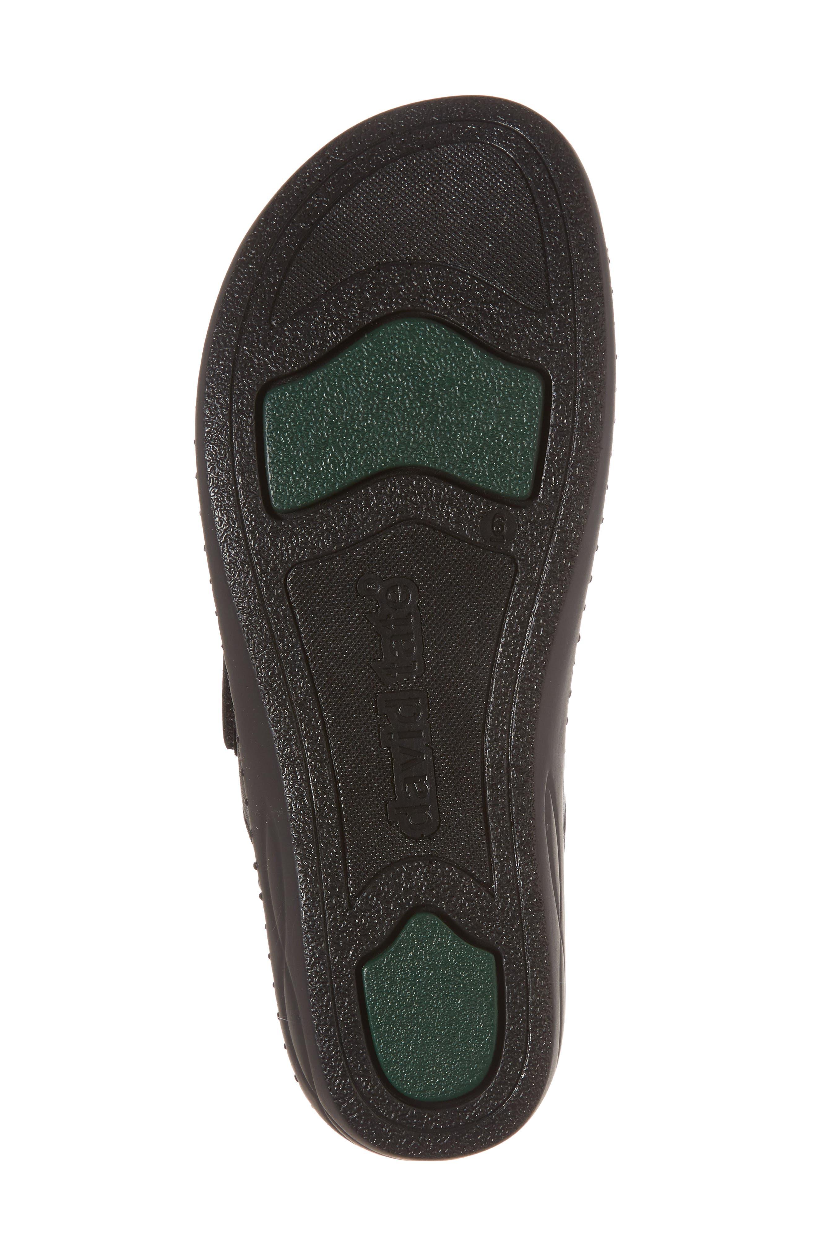 Sol Sandal,                             Alternate thumbnail 6, color,                             Black Leather