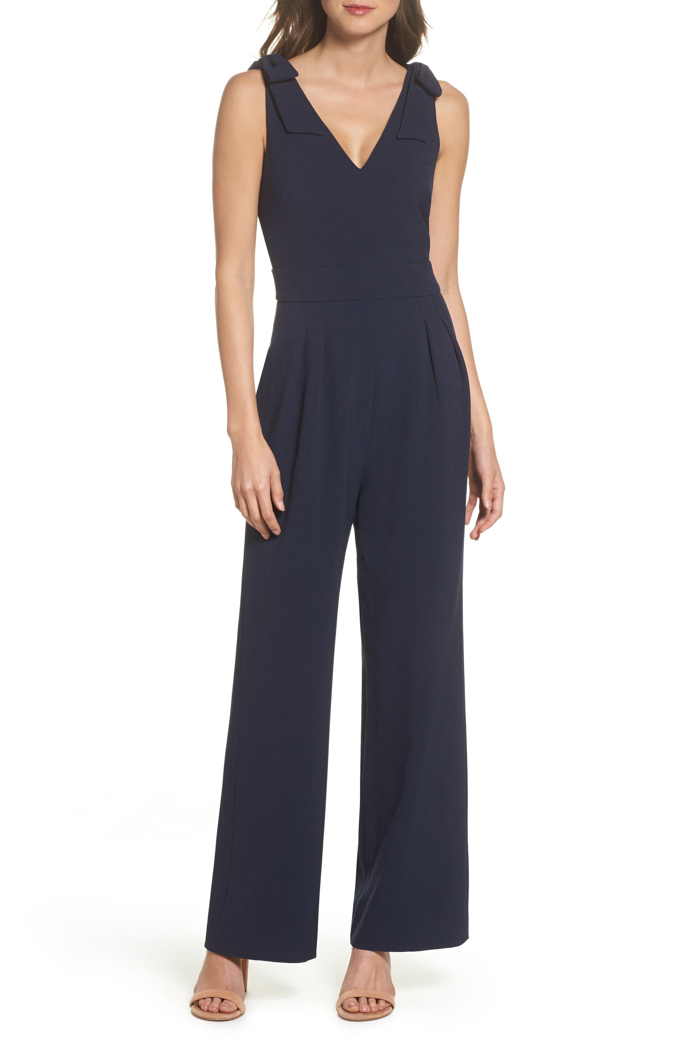 Chelsea28 Bow Shoulder Jumpsuit (Regular & Petite)