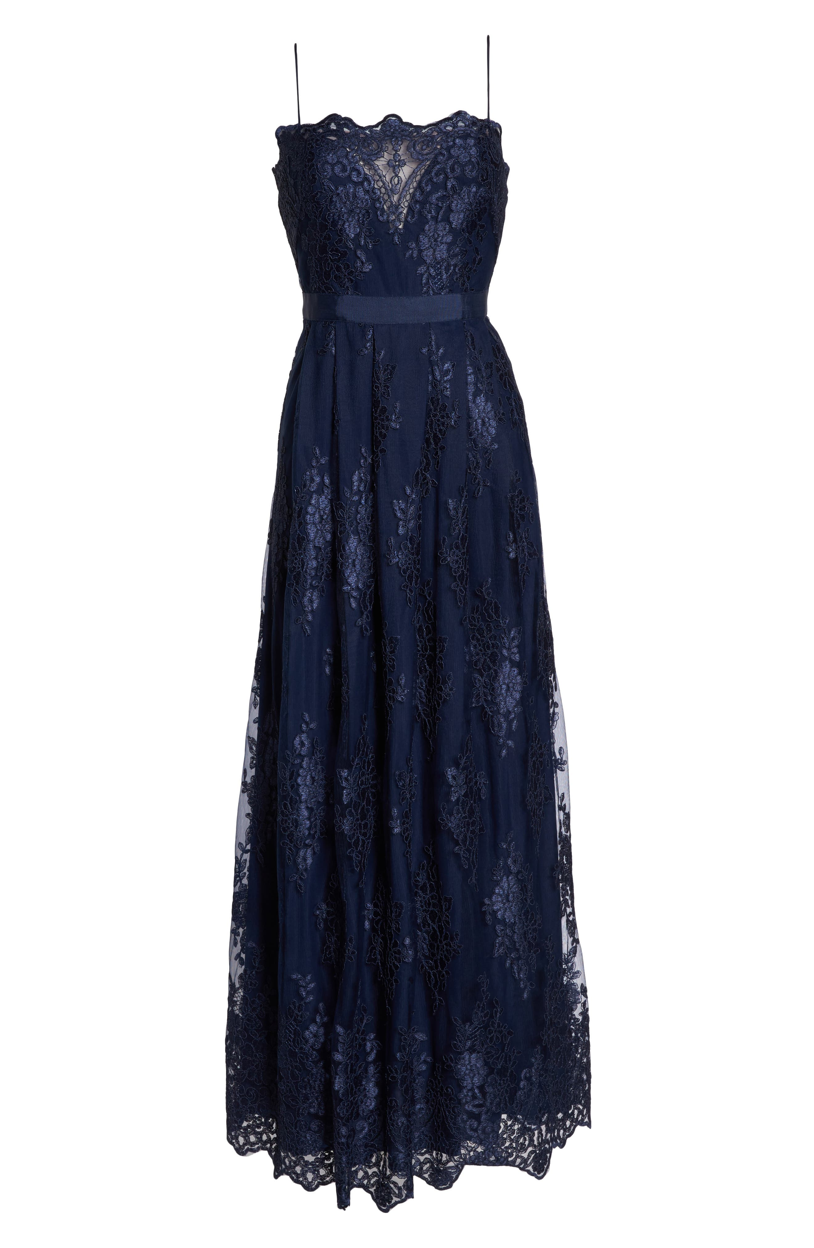 Lace Gown,                             Alternate thumbnail 6, color,                             Navy