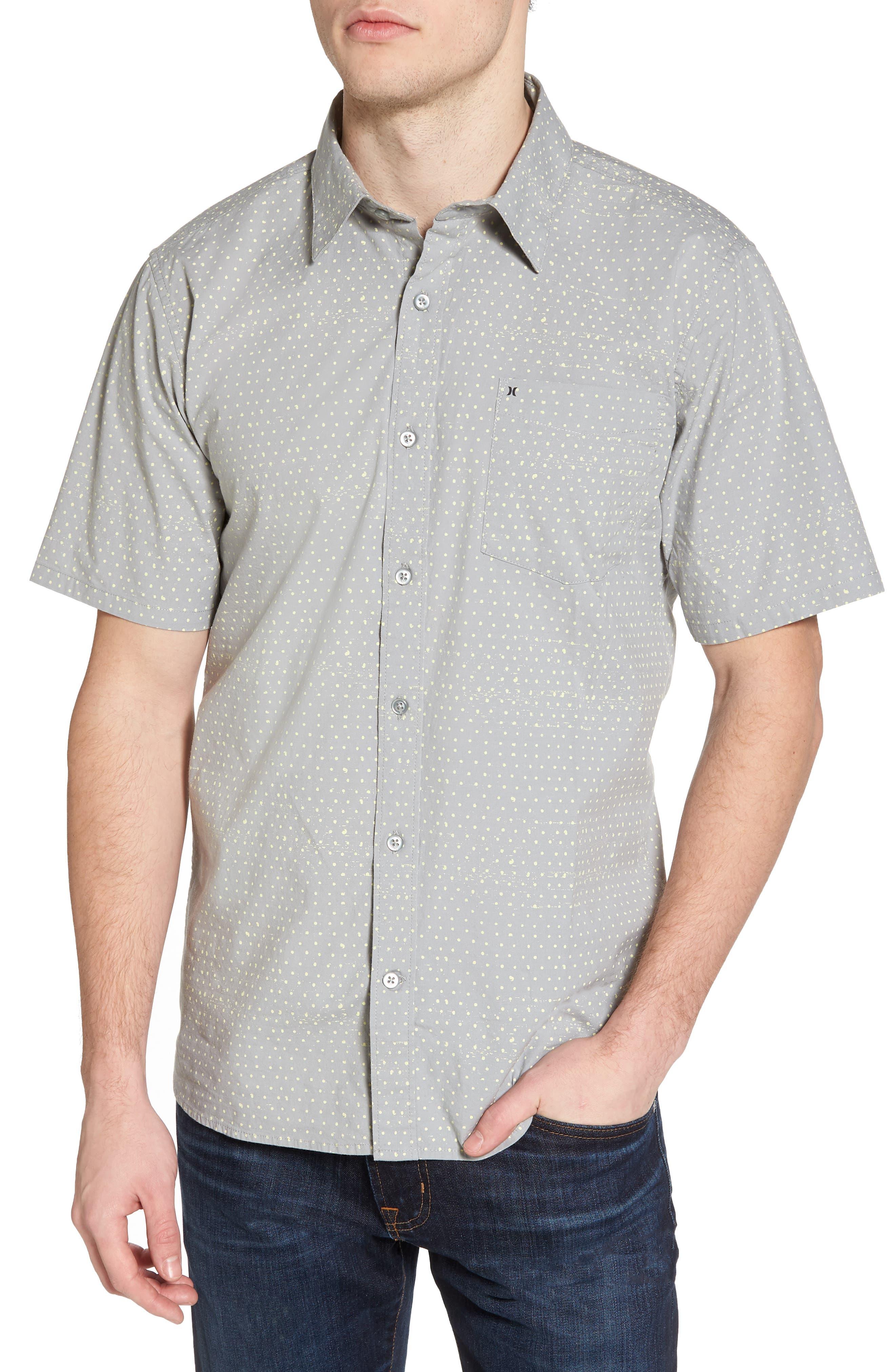 Jones Dot Woven Shirt,                             Main thumbnail 1, color,                             Light Pumice