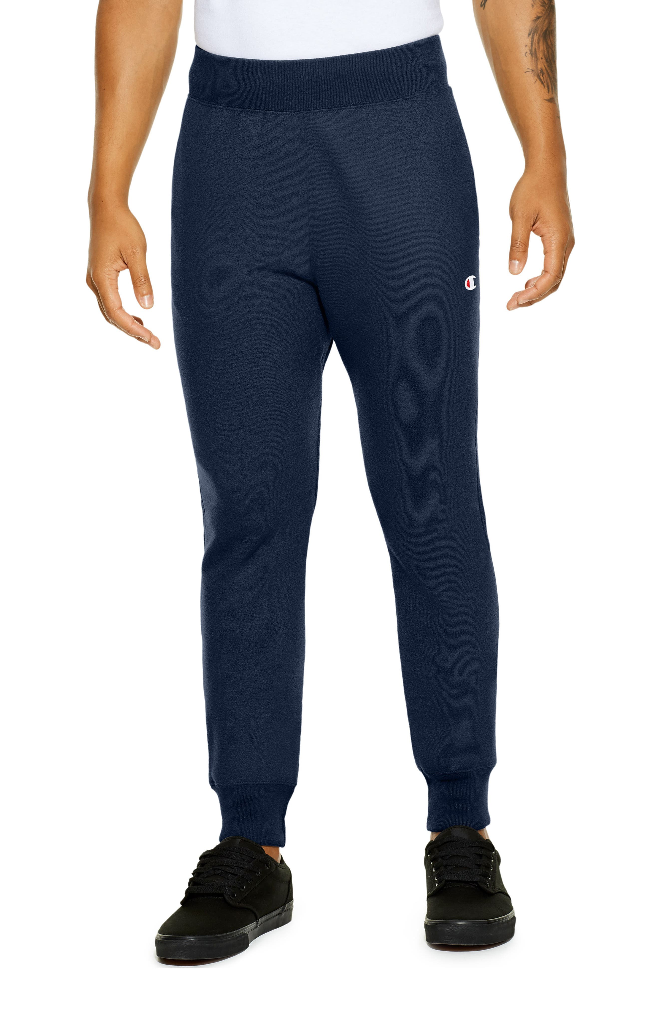 Reverse Weave<sup>®</sup> Jogger Pants,                         Main,                         color, Navy
