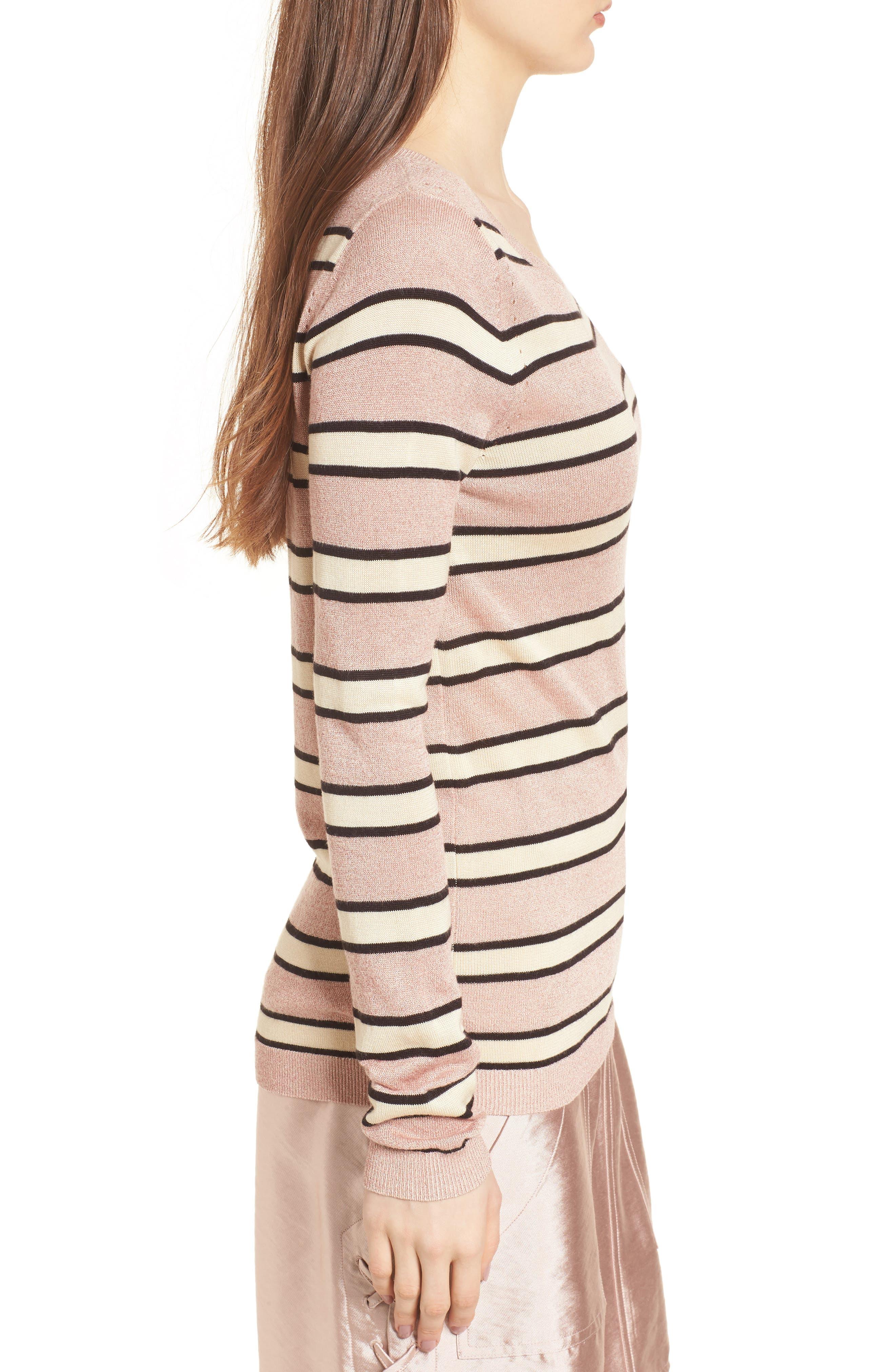 Stripe Sweater,                             Alternate thumbnail 3, color,                             Combo B