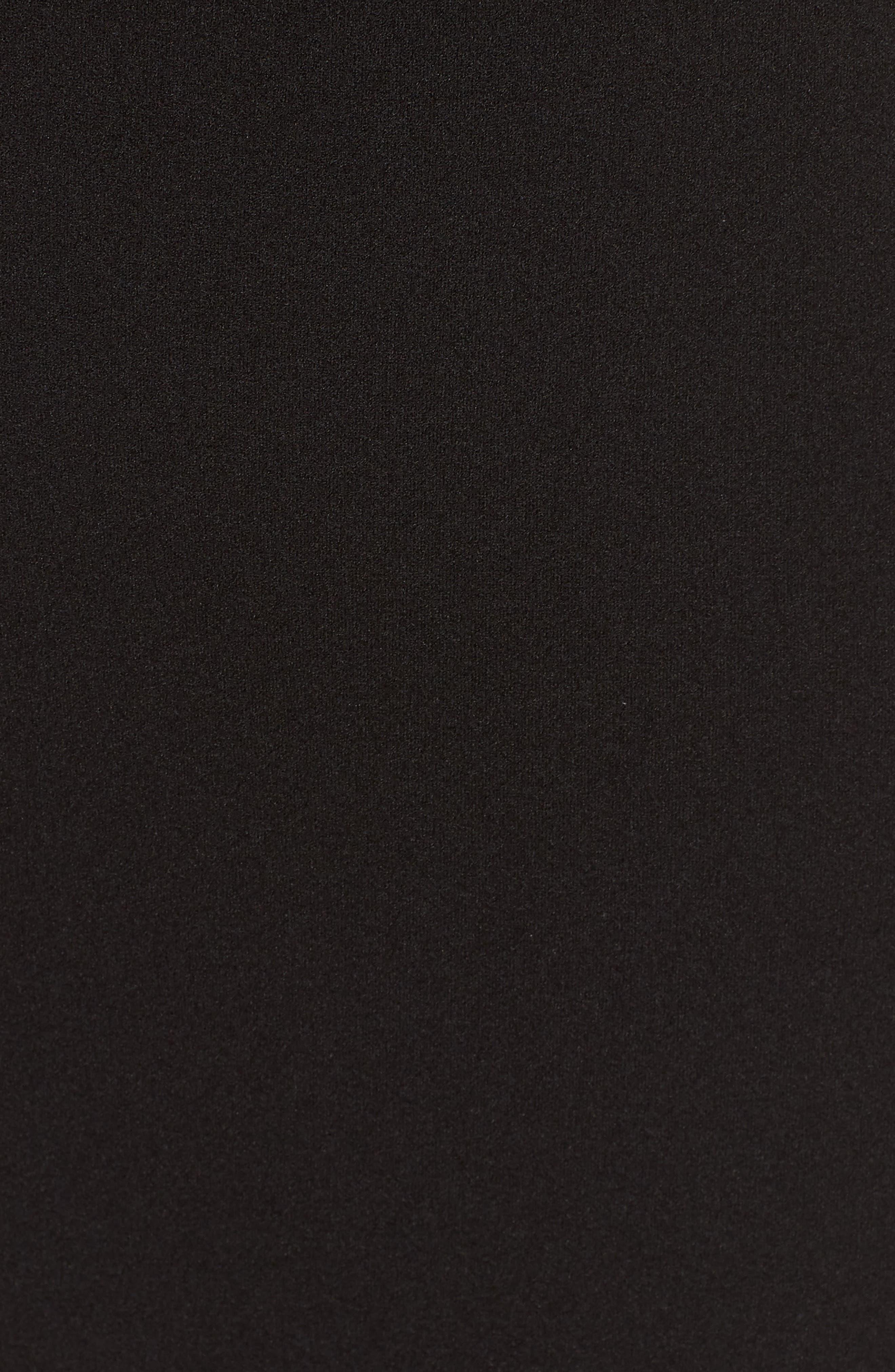 Side Cutout Body-Con Dress,                             Alternate thumbnail 5, color,                             Black
