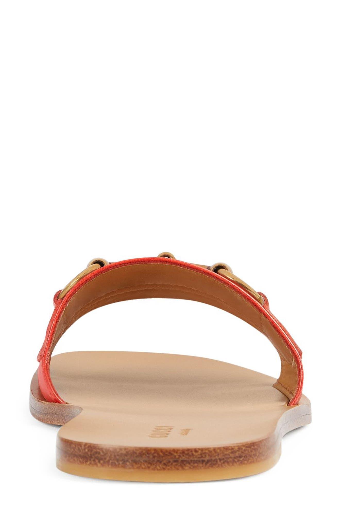 Varadero Slide Sandal,                             Alternate thumbnail 5, color,                             Orange