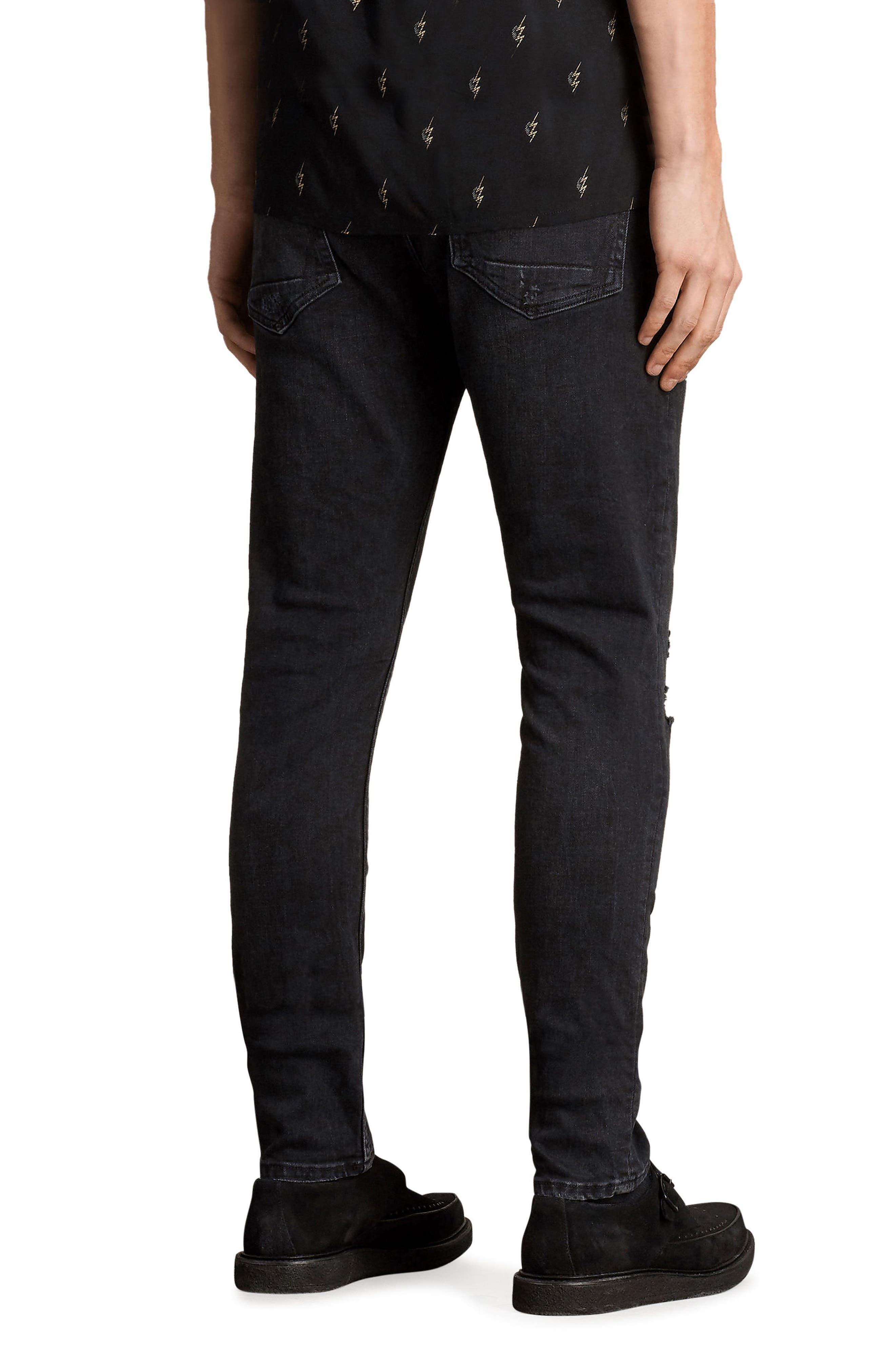 Raveline Skinny Fit Jeans,                             Alternate thumbnail 2, color,                             Black